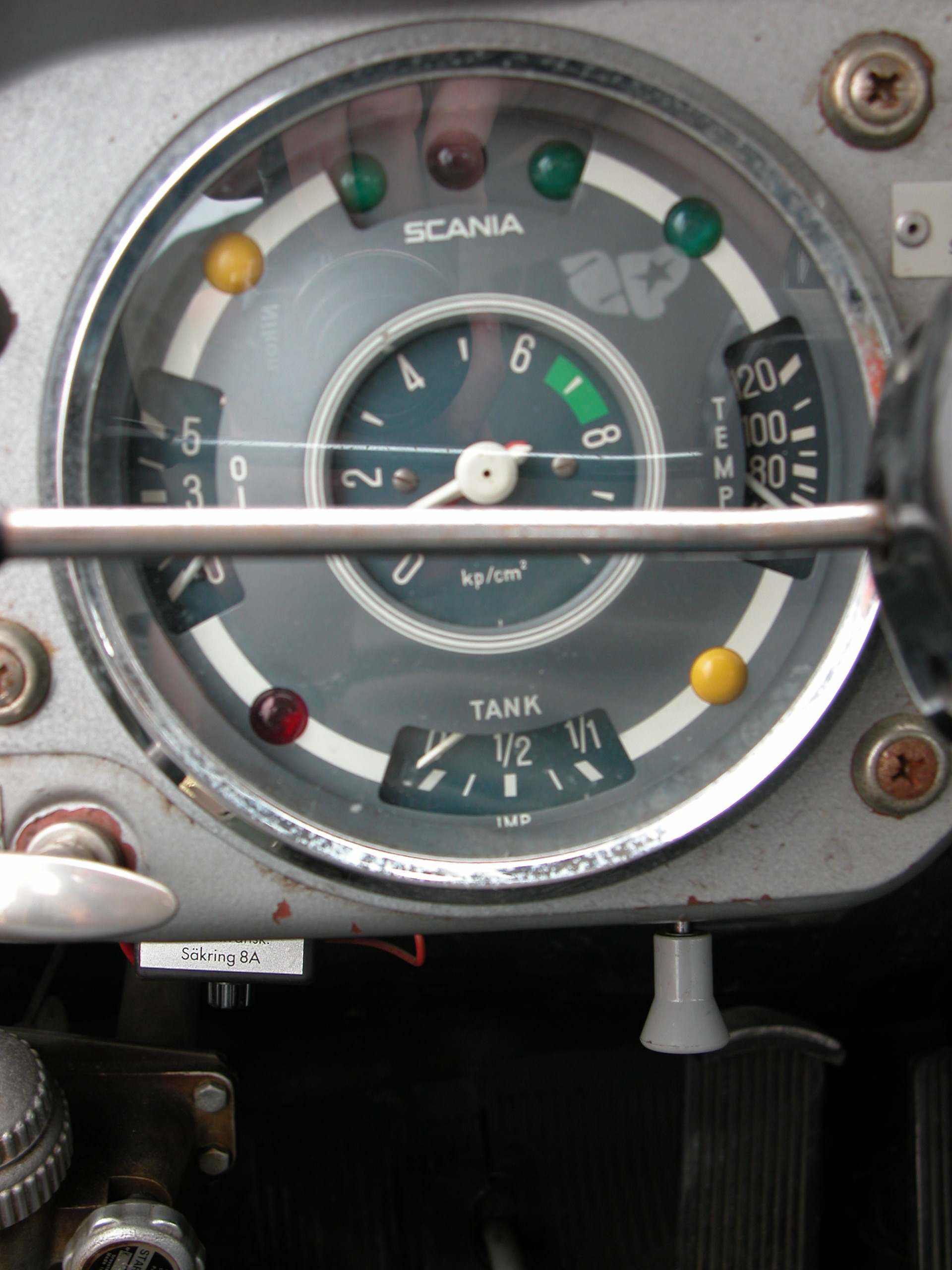 dashboard car meter scania velocity speed counter round