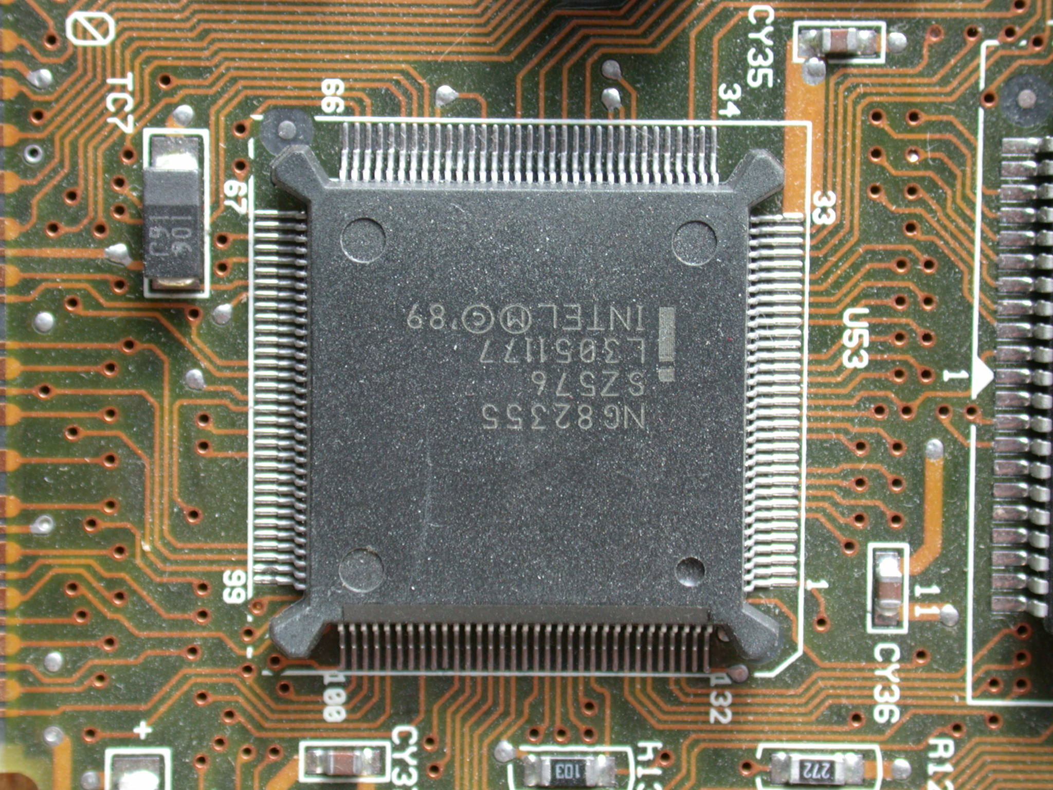 objects circuits chip computer printboard processor plastic numbes 0 digital silicon