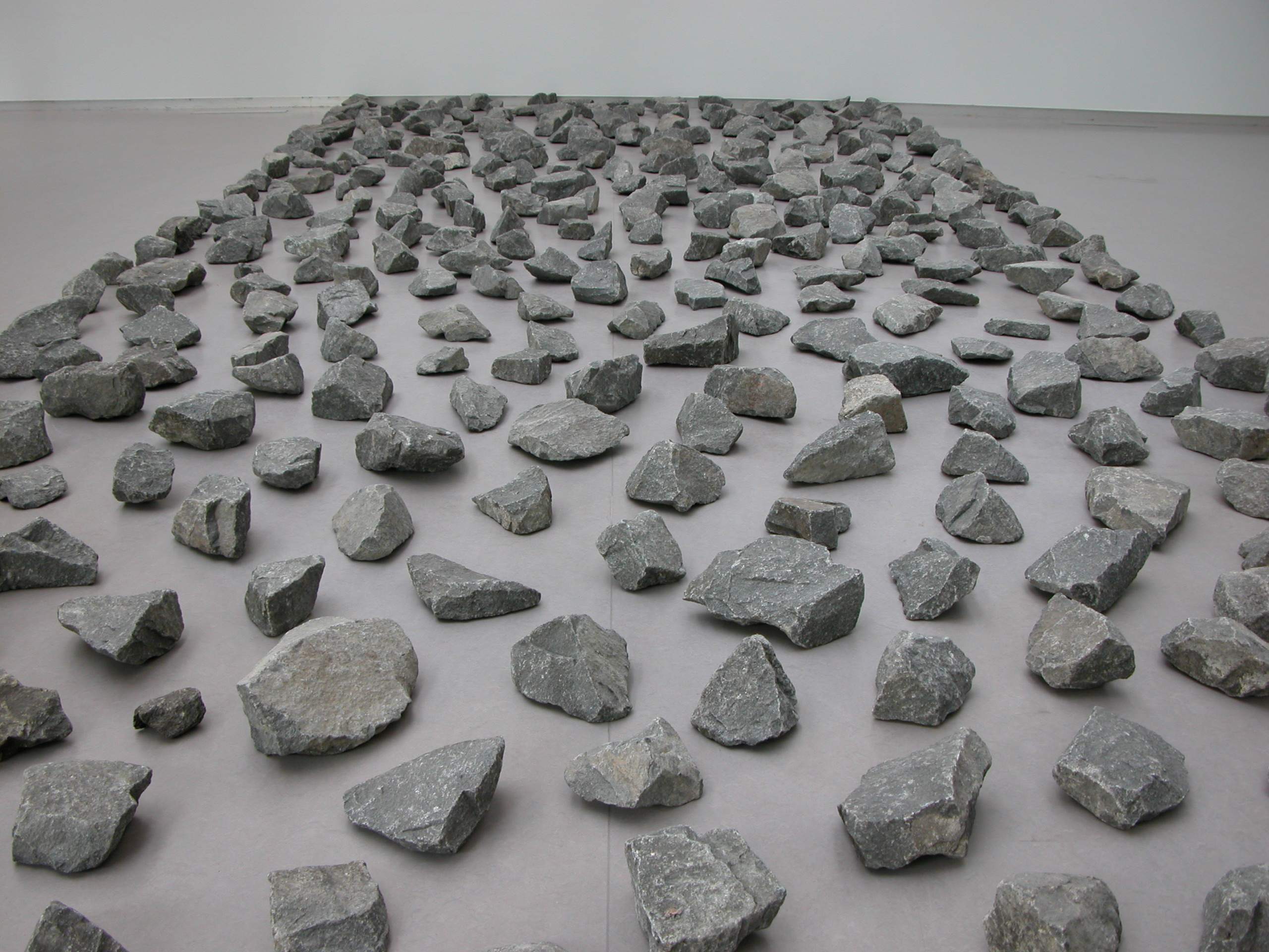 art rocks in room stones