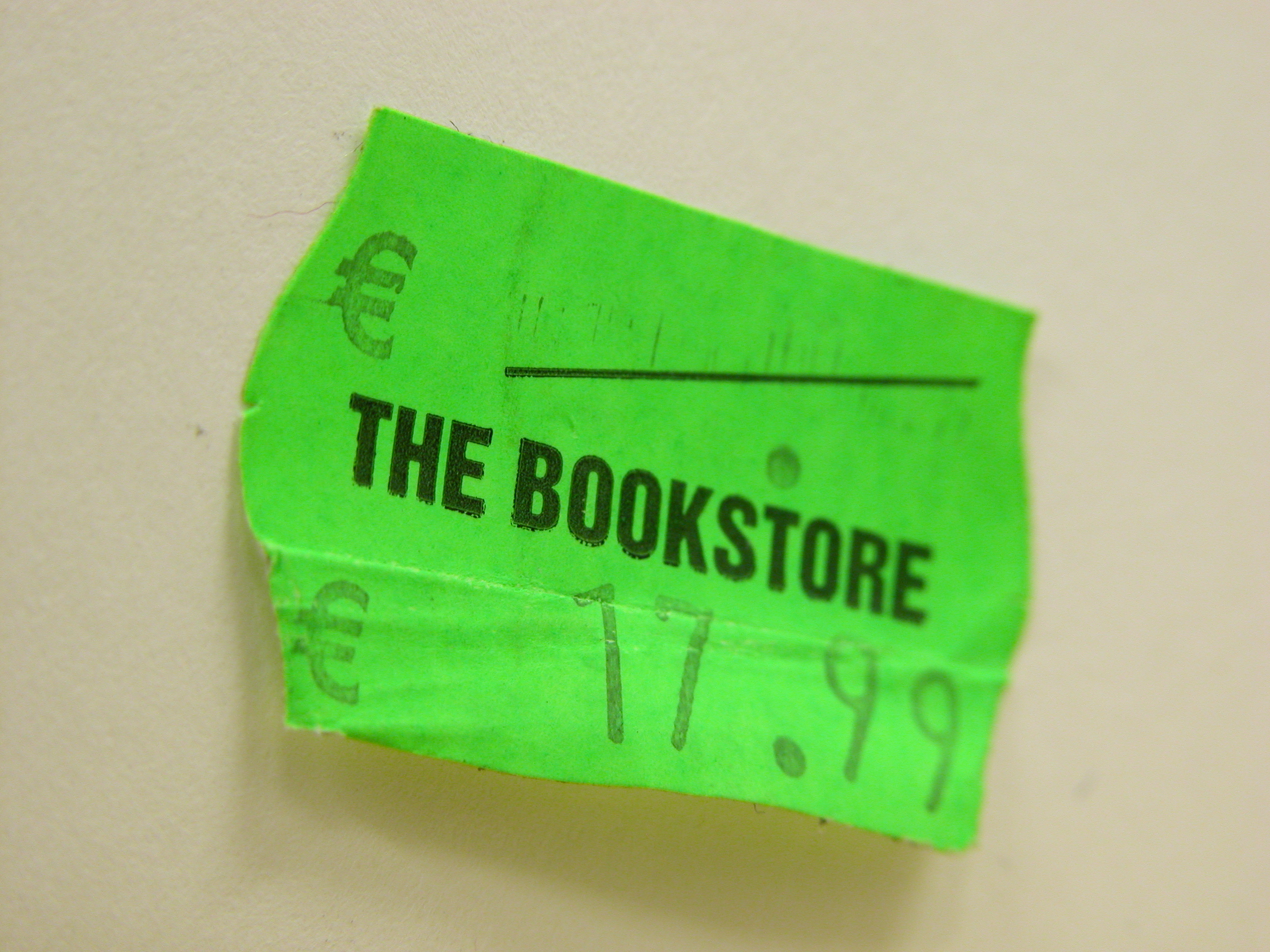 scripts objects tag signs pricetag green euro price pricing bookstore