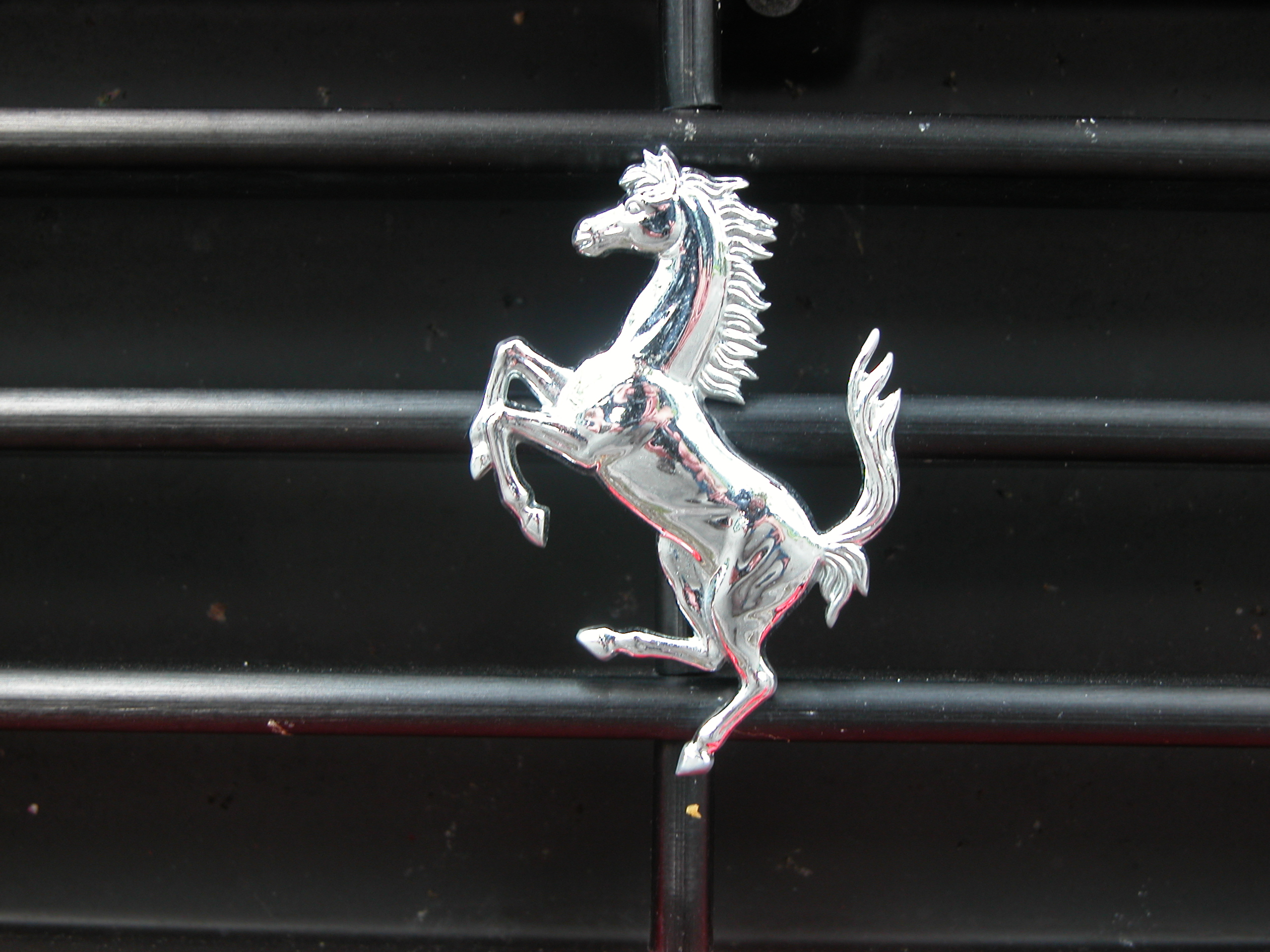 signs objects brand logo ferrari horse chrome