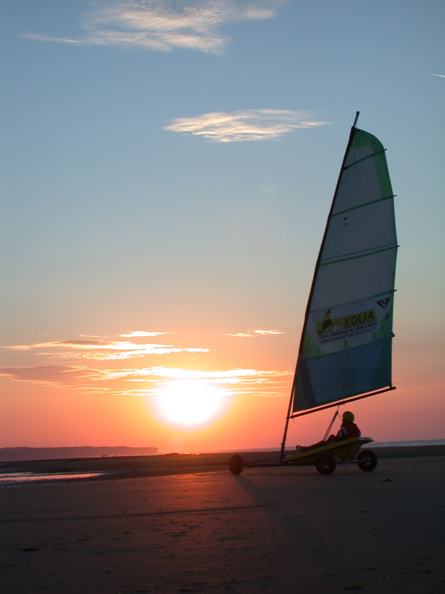 sailing land skeeler sail sunset beach speed sports