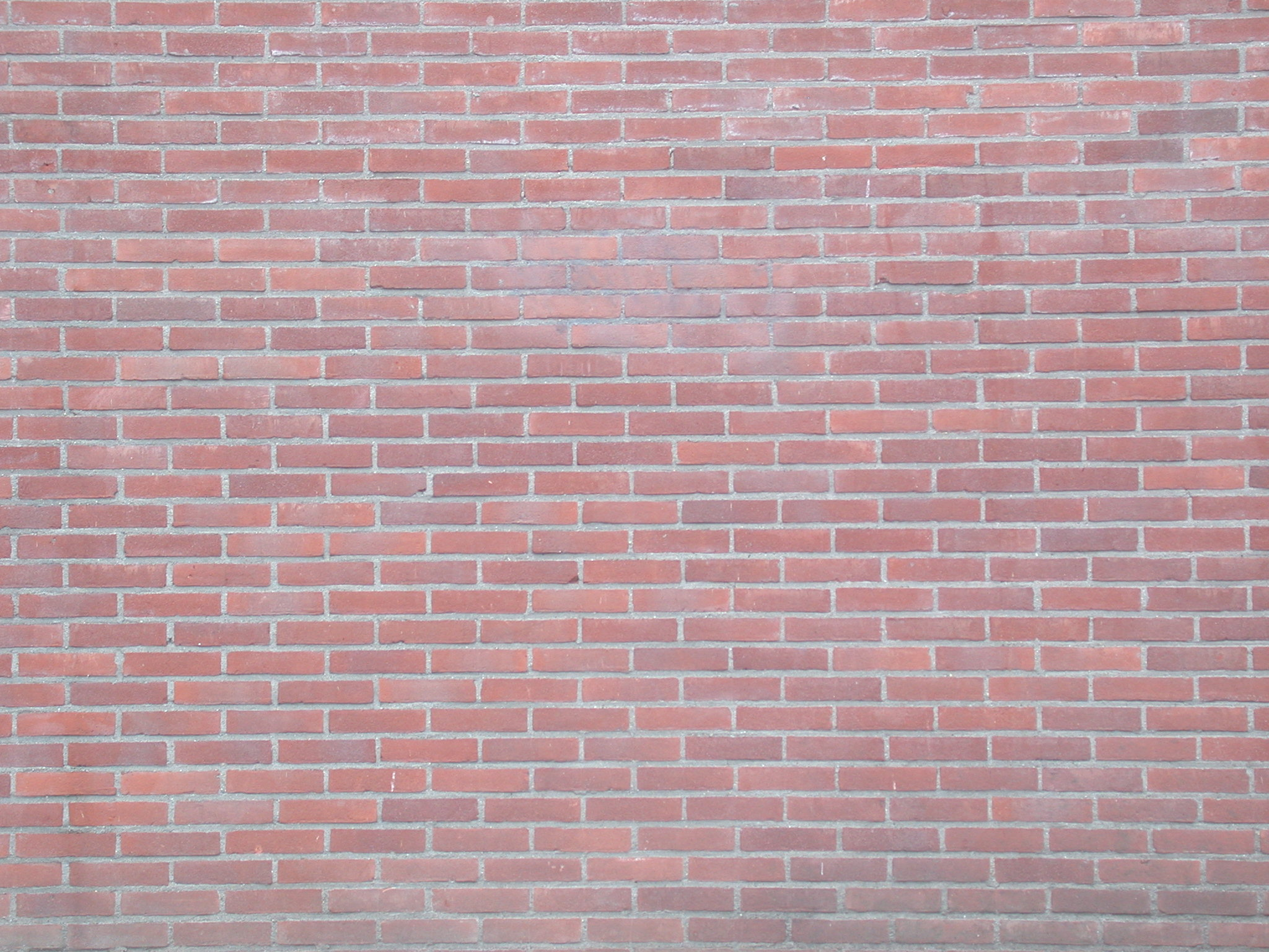 flat smooth surface red brick wall bricks lined up lined-up pattern