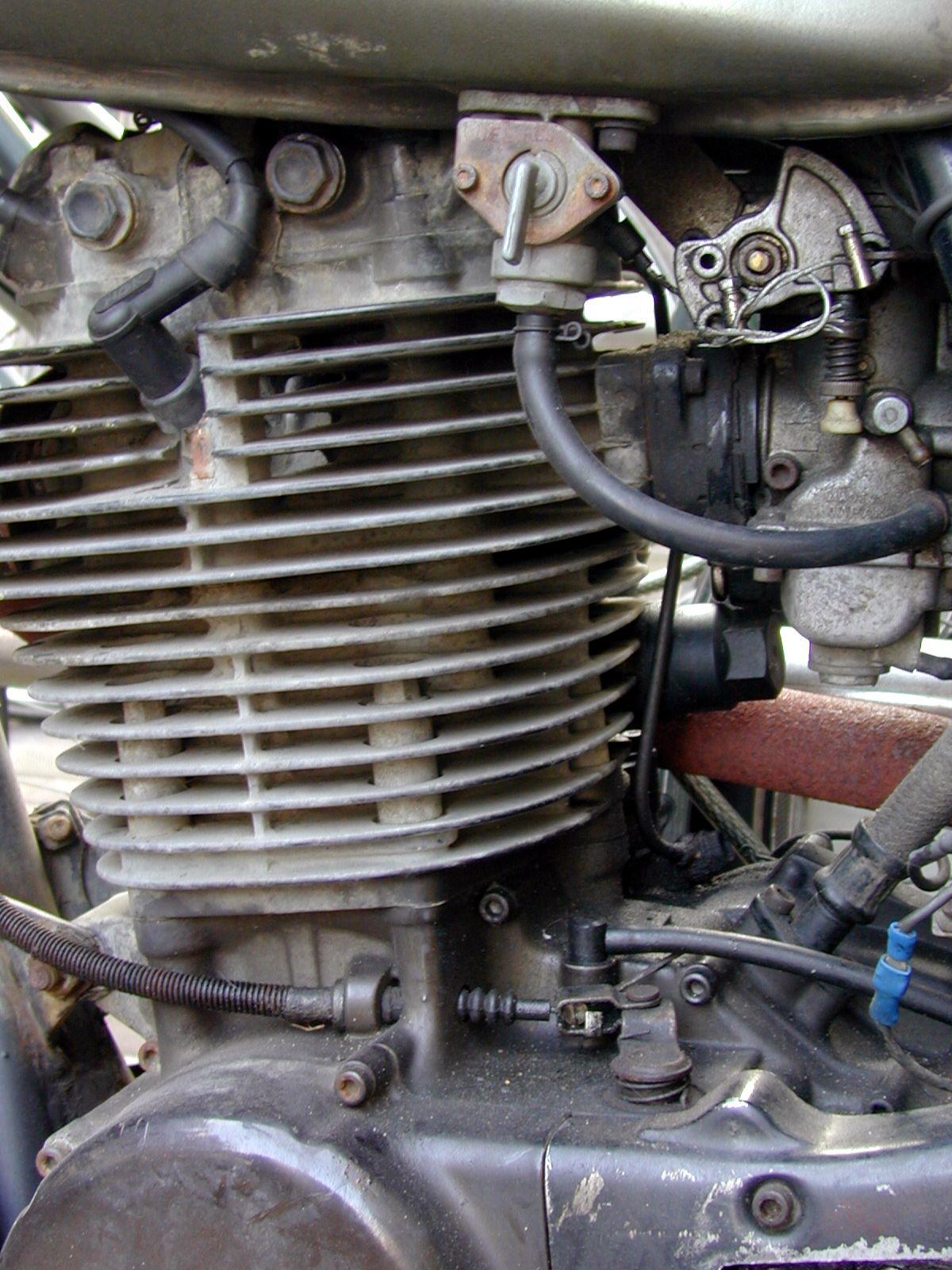 engine motor bike mechanical parts metal steel wires