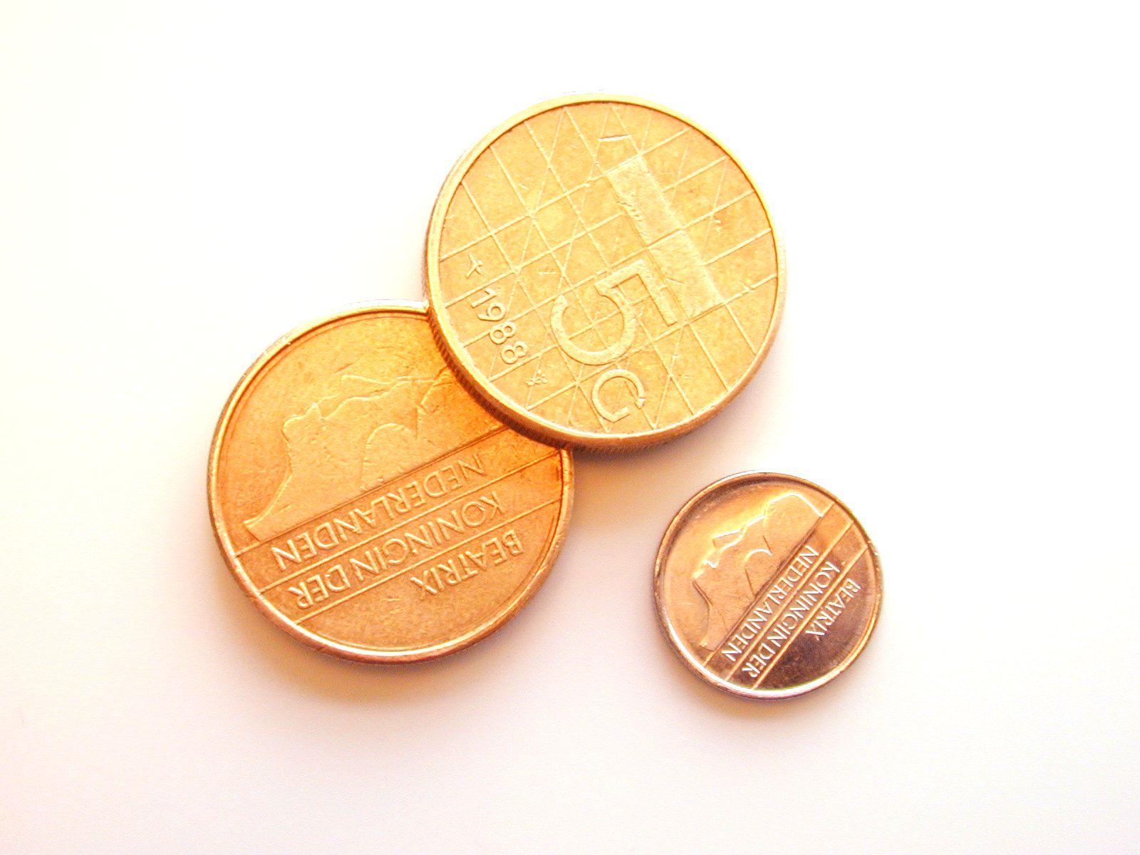 money moneys gold golden dutch old guilder guilders round coin coins