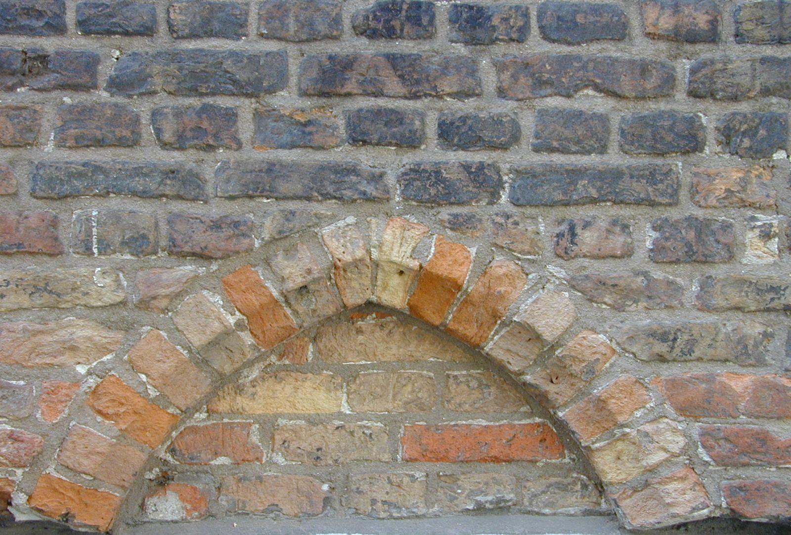 ornament cement door top bricks masonry red royalty