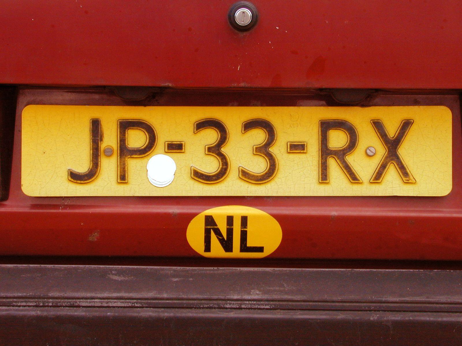 license plate yellow dutch nederlands