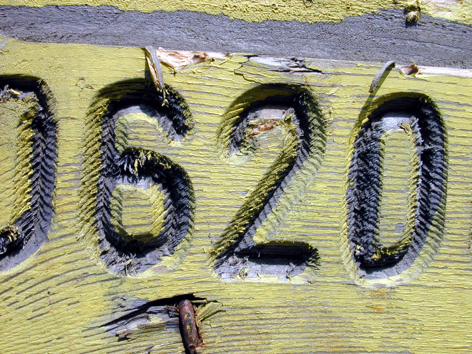 licence plate number plate numbers 6 2 0 wood