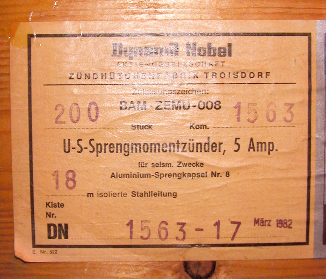 sticker number letters indication box german marz 1982