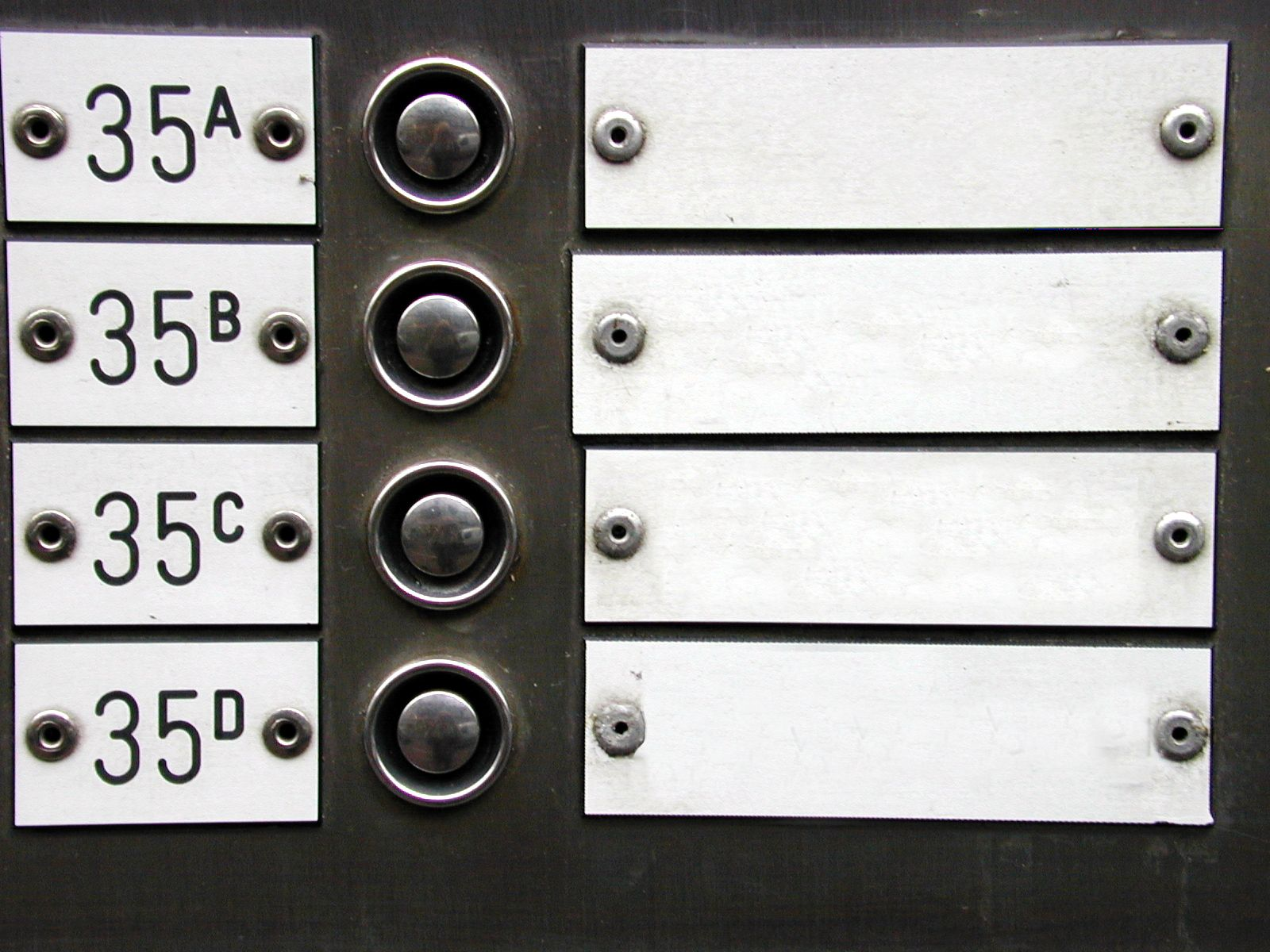 doorbells houses numbers name tags plates
