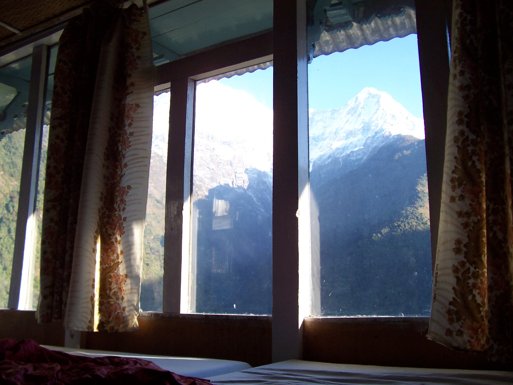 annet mountains Himalaya mountain window quite a view