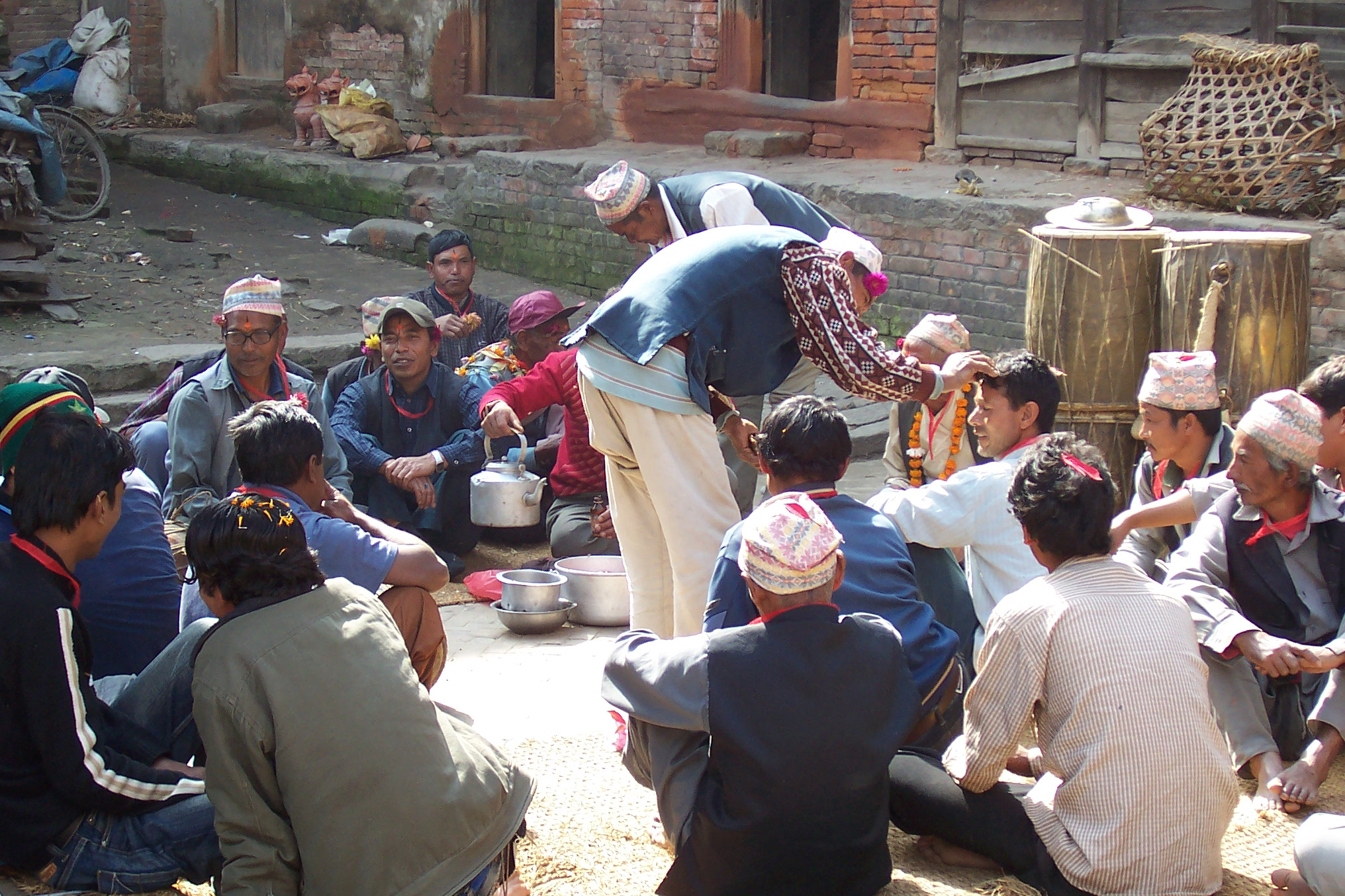 nature characters humanoids annet nepal ceremony crowd people men religion thea