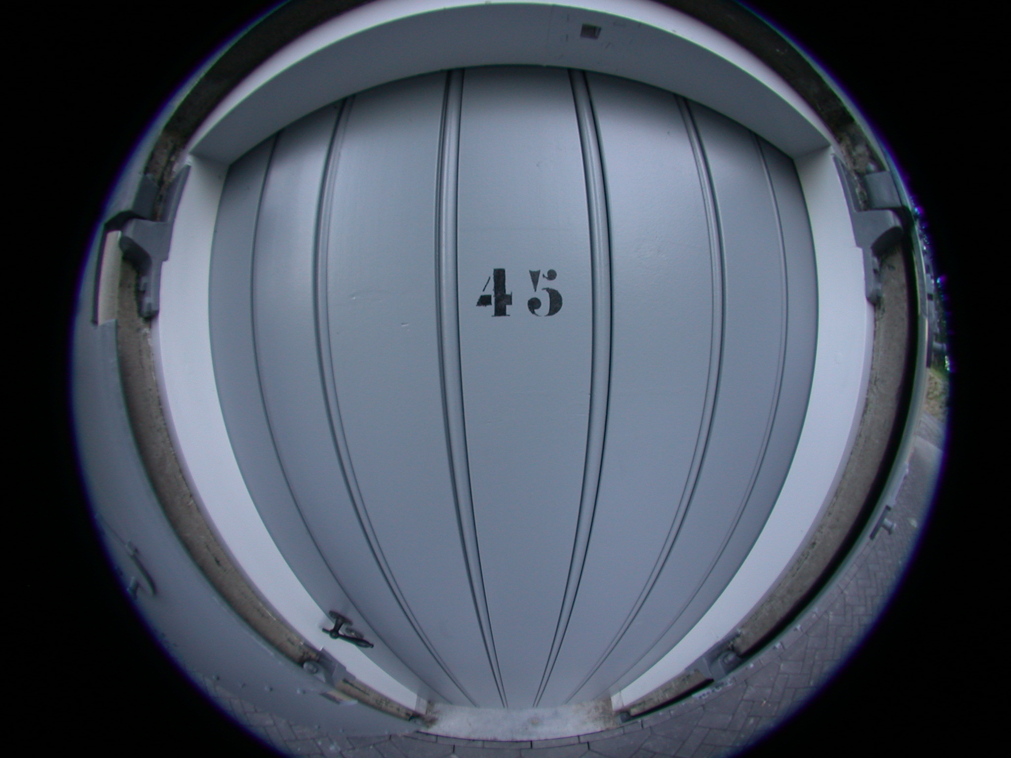 fisheye of a door grey 43