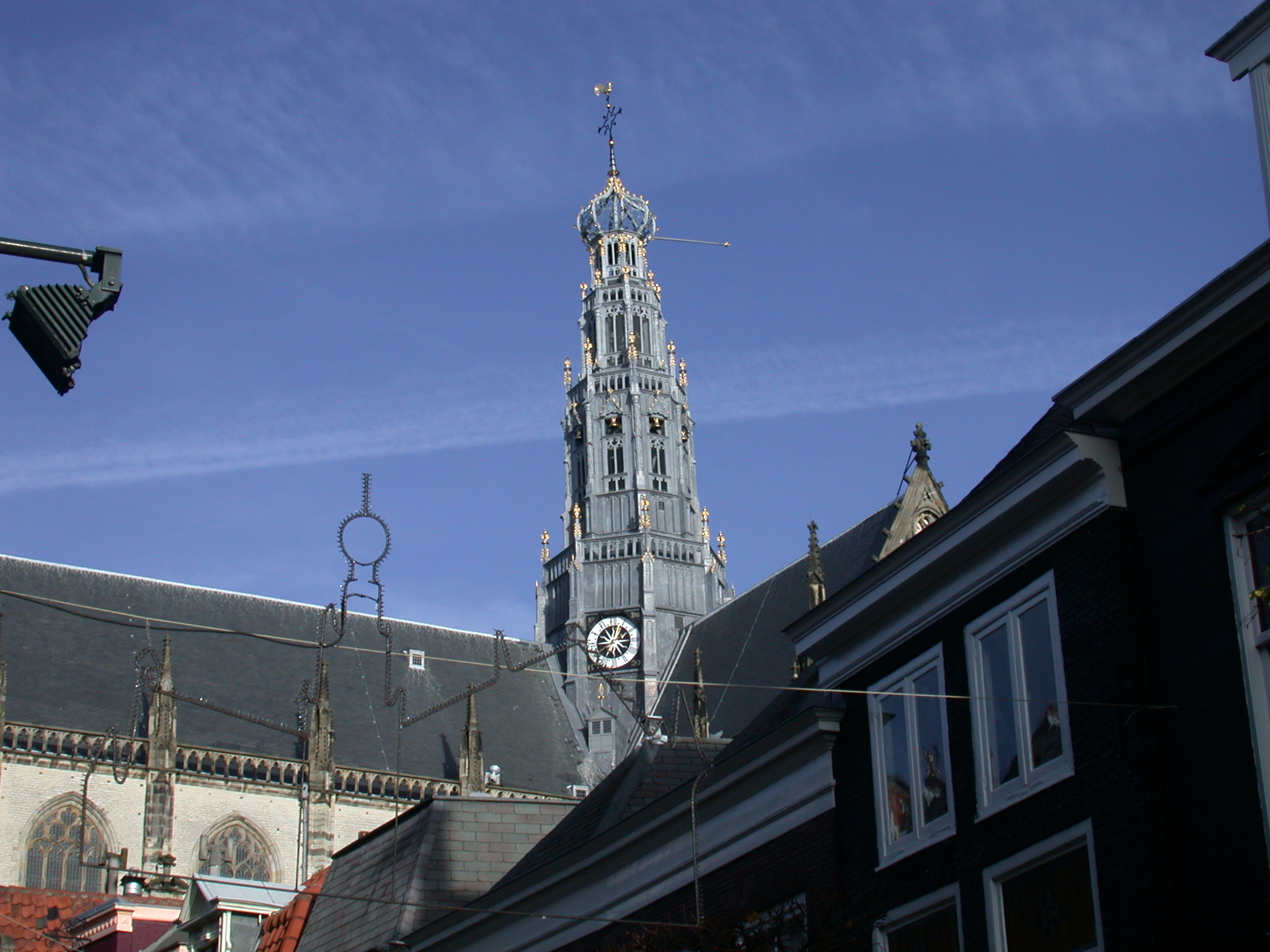 church Haarlem the Netherlands tower clock