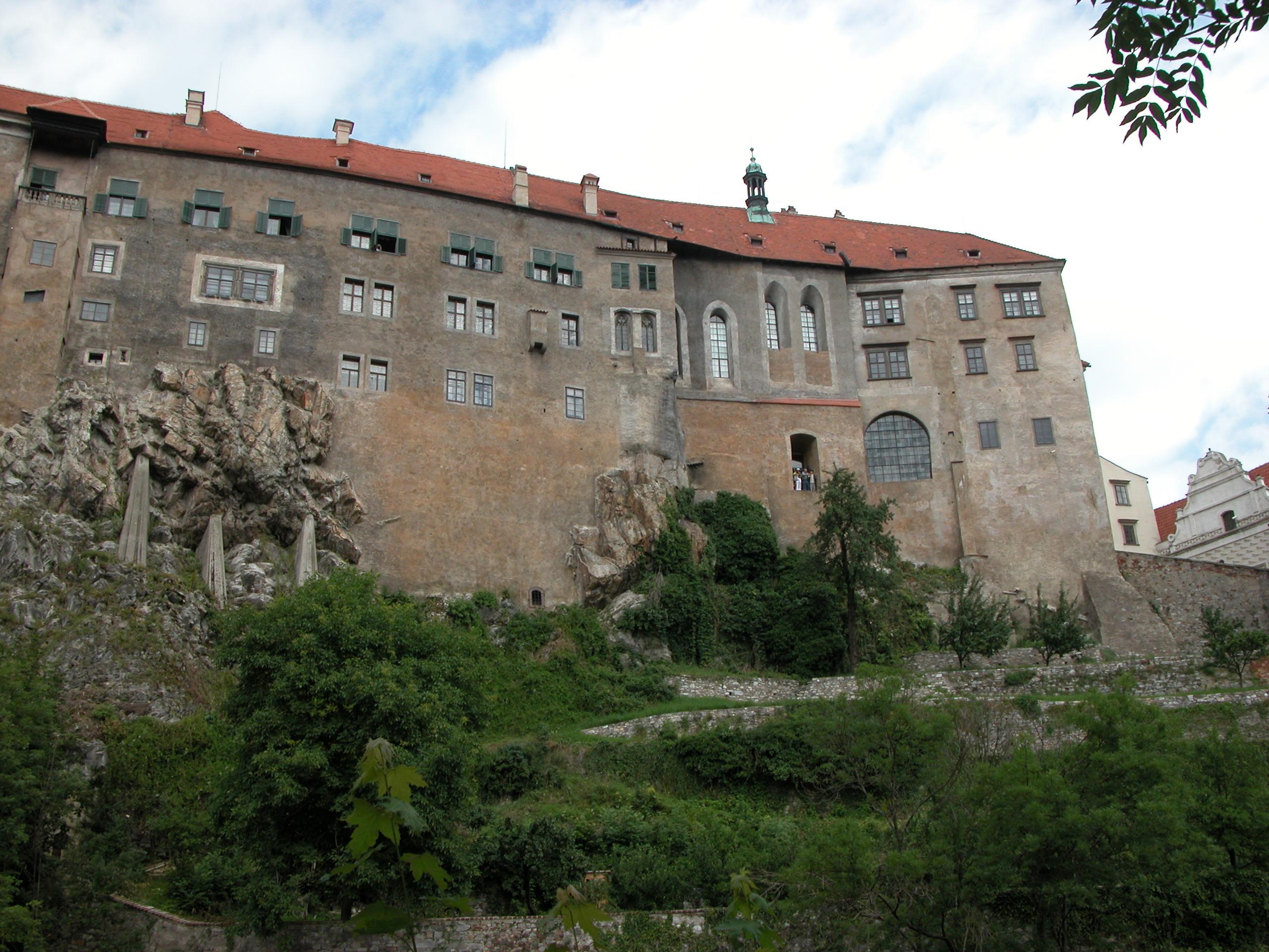 castle on cliff rock mountain