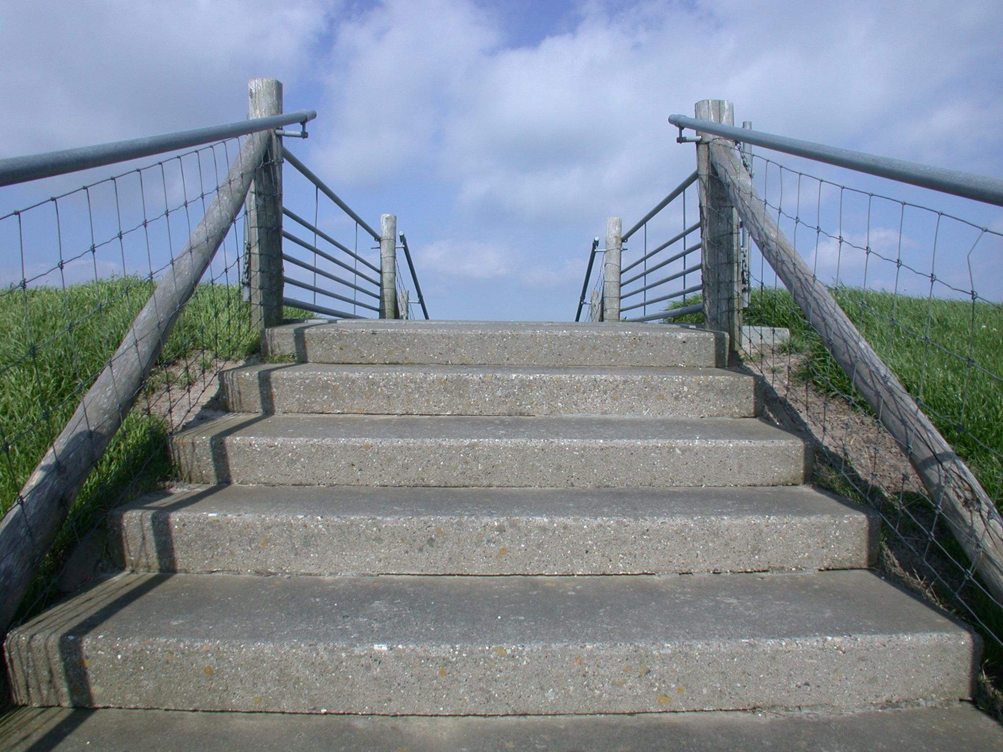stairs dike steps concrete