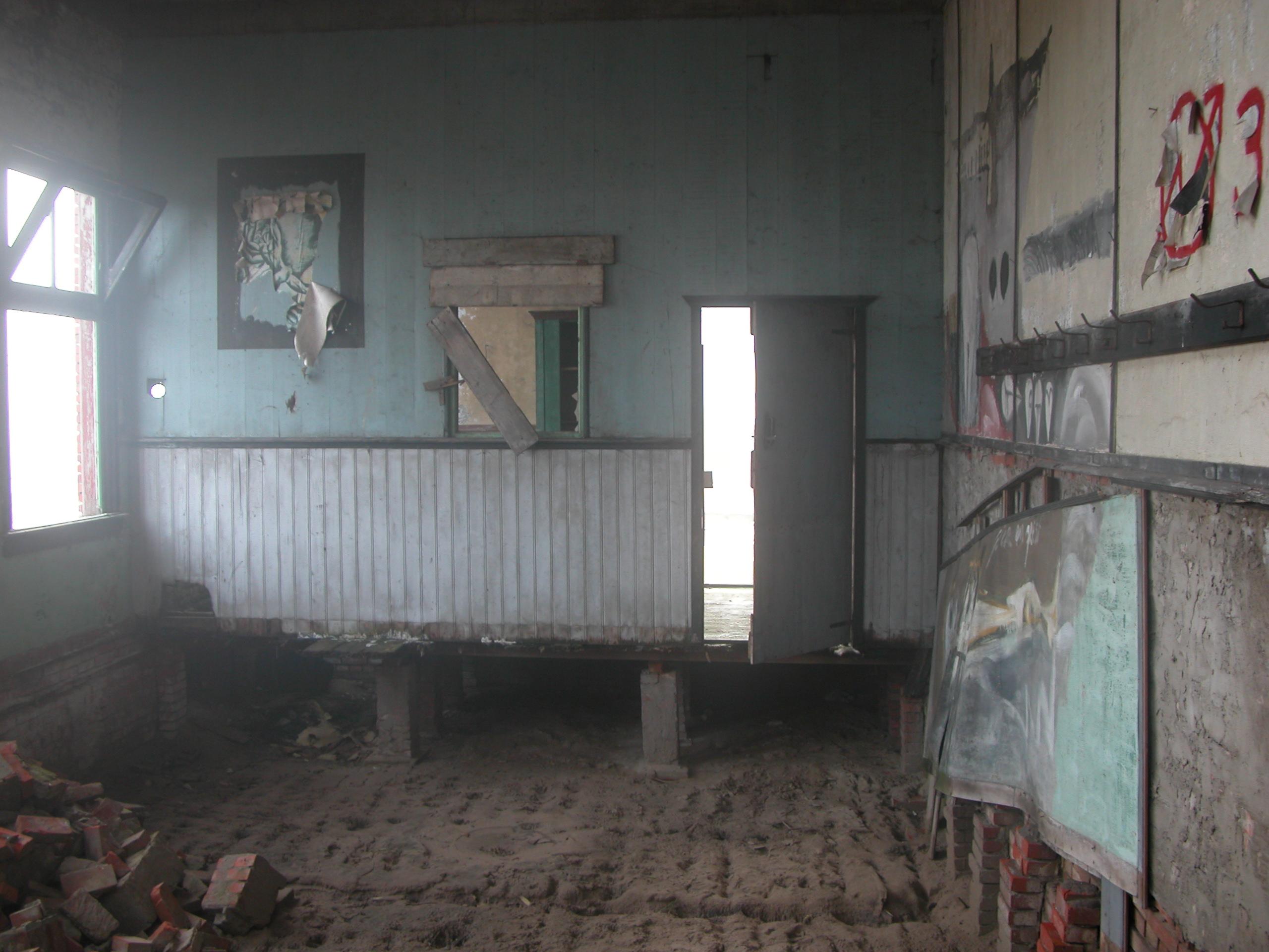 old abandoned rubble rubbish dump room