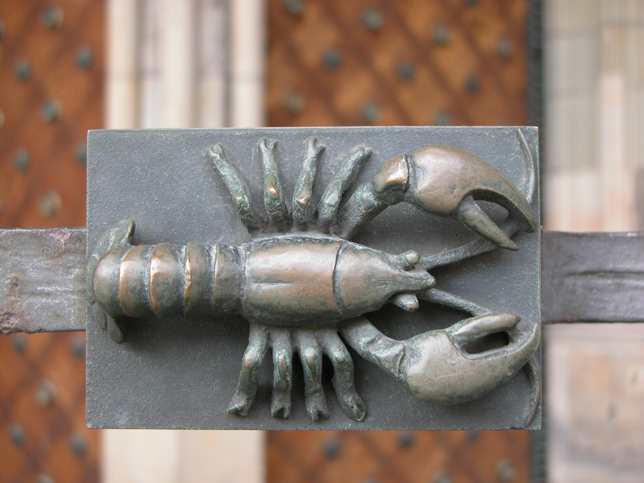 art sculptures lobster crayfish top zodiac bronze