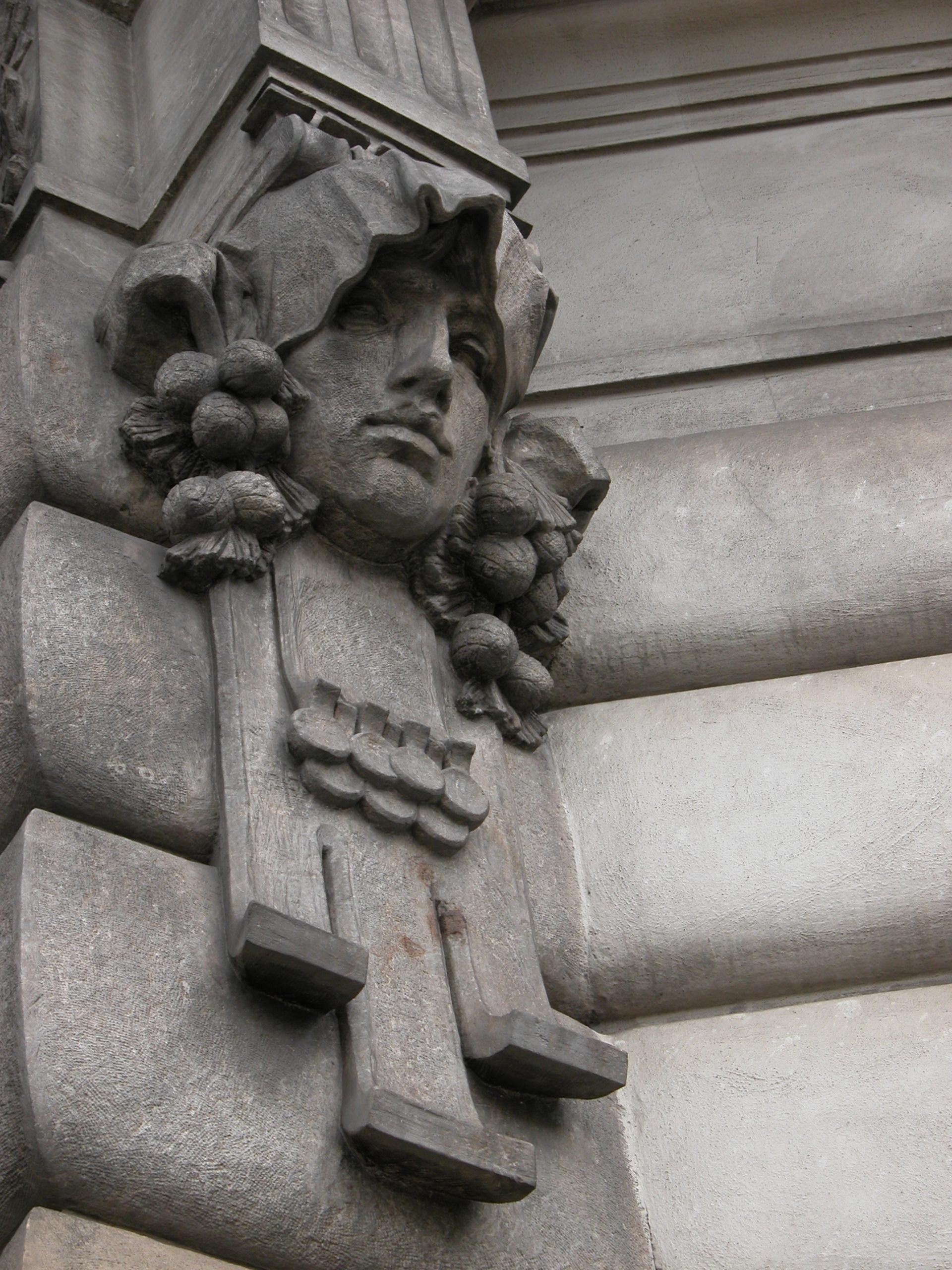 ornament decorated sculpture head