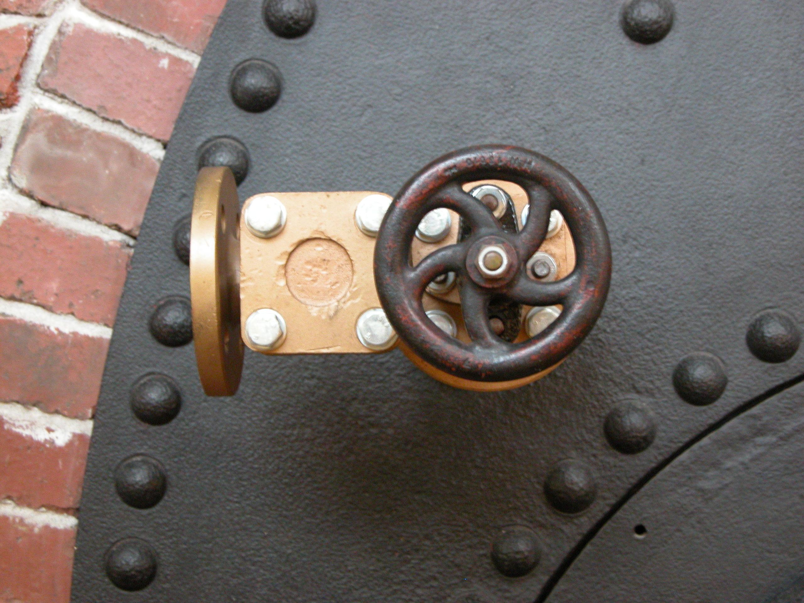 valve steel metal rivets door