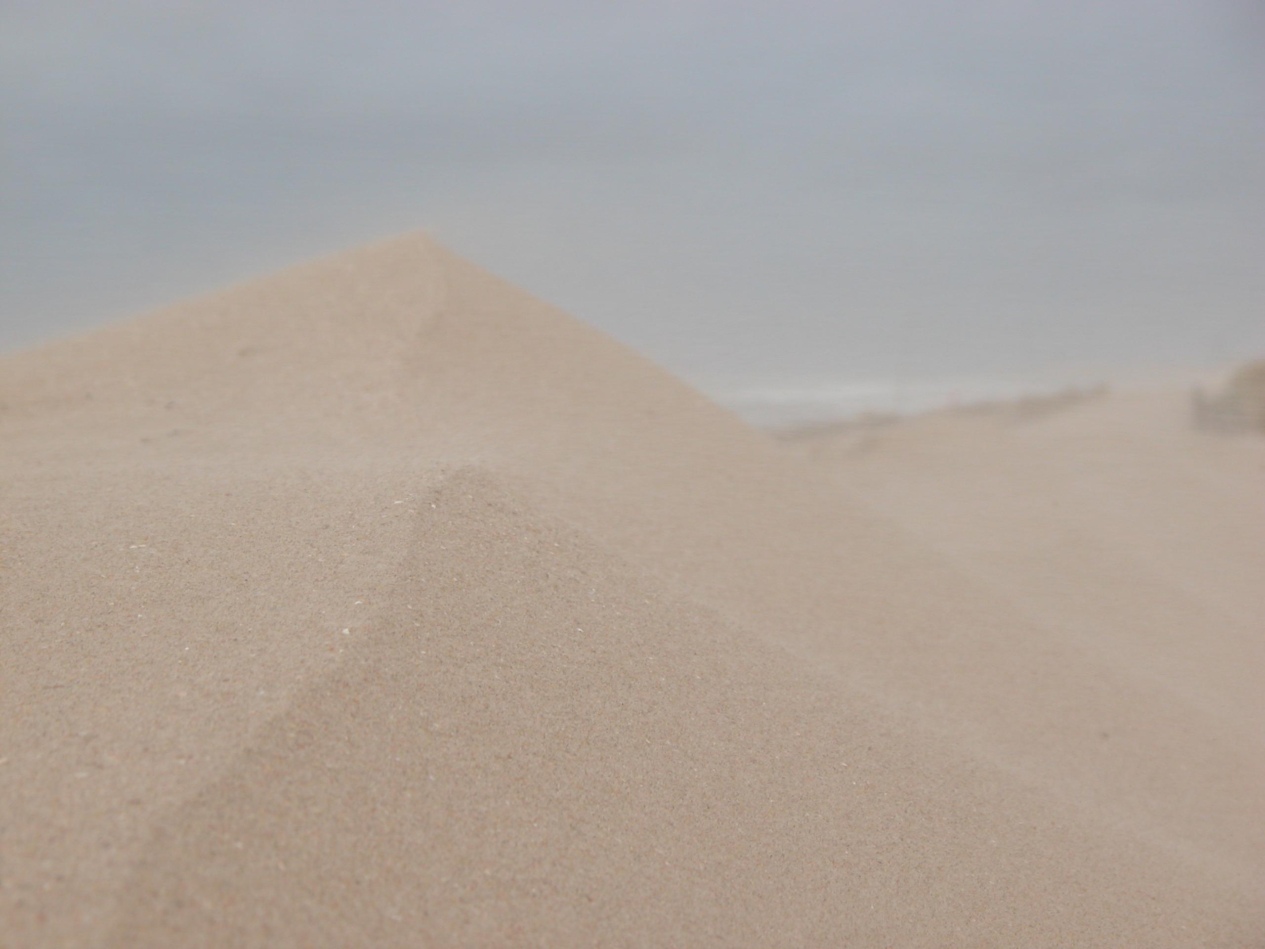 sand dune dry desert gray hill heap