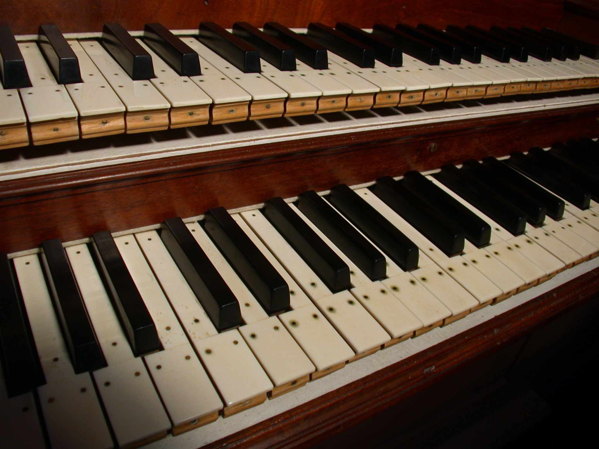 piano keyboard key keys black and white ebony and ivory old wooden musical instrument