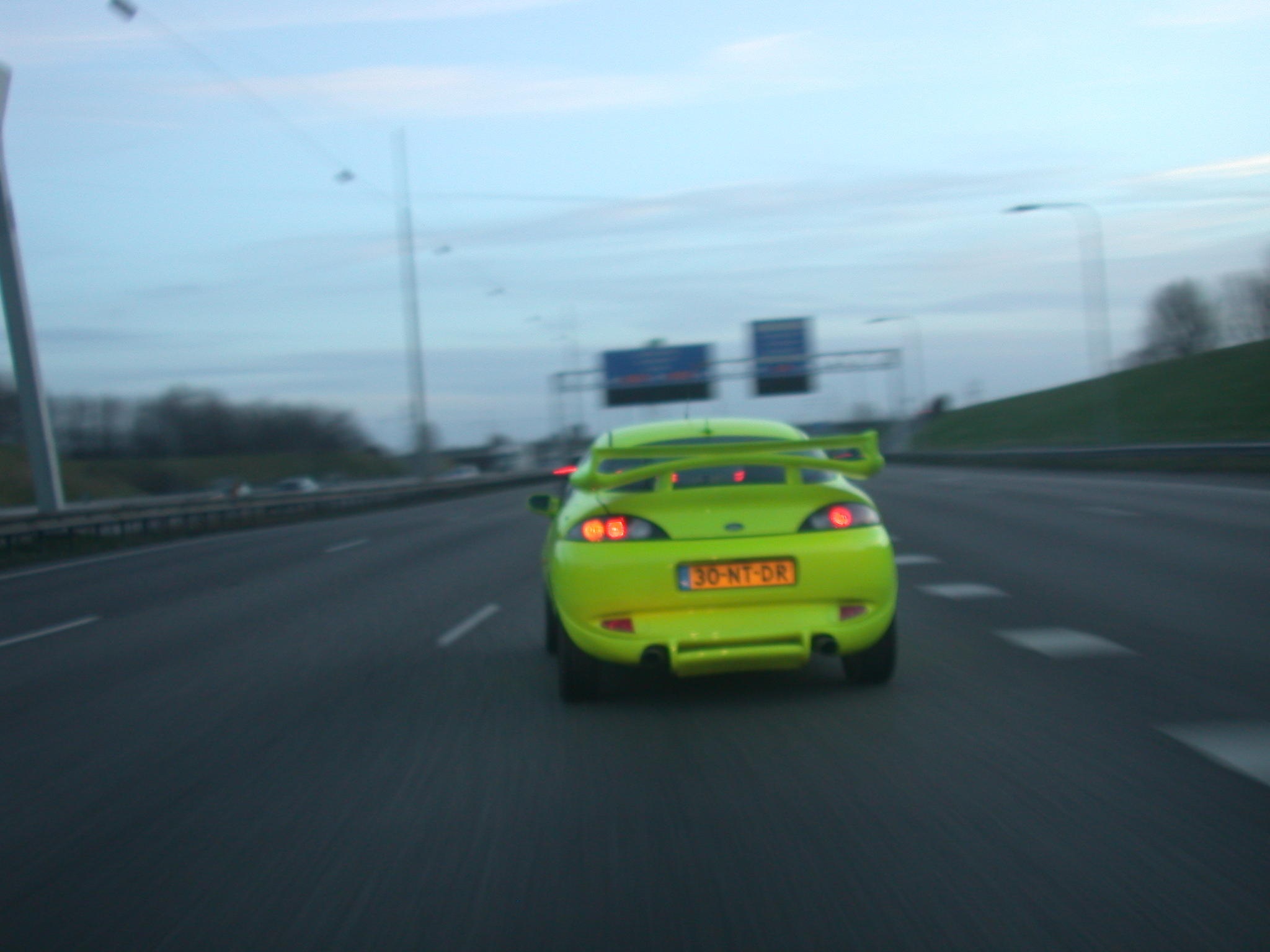 car sports fast yellow highway motorway spoiler
