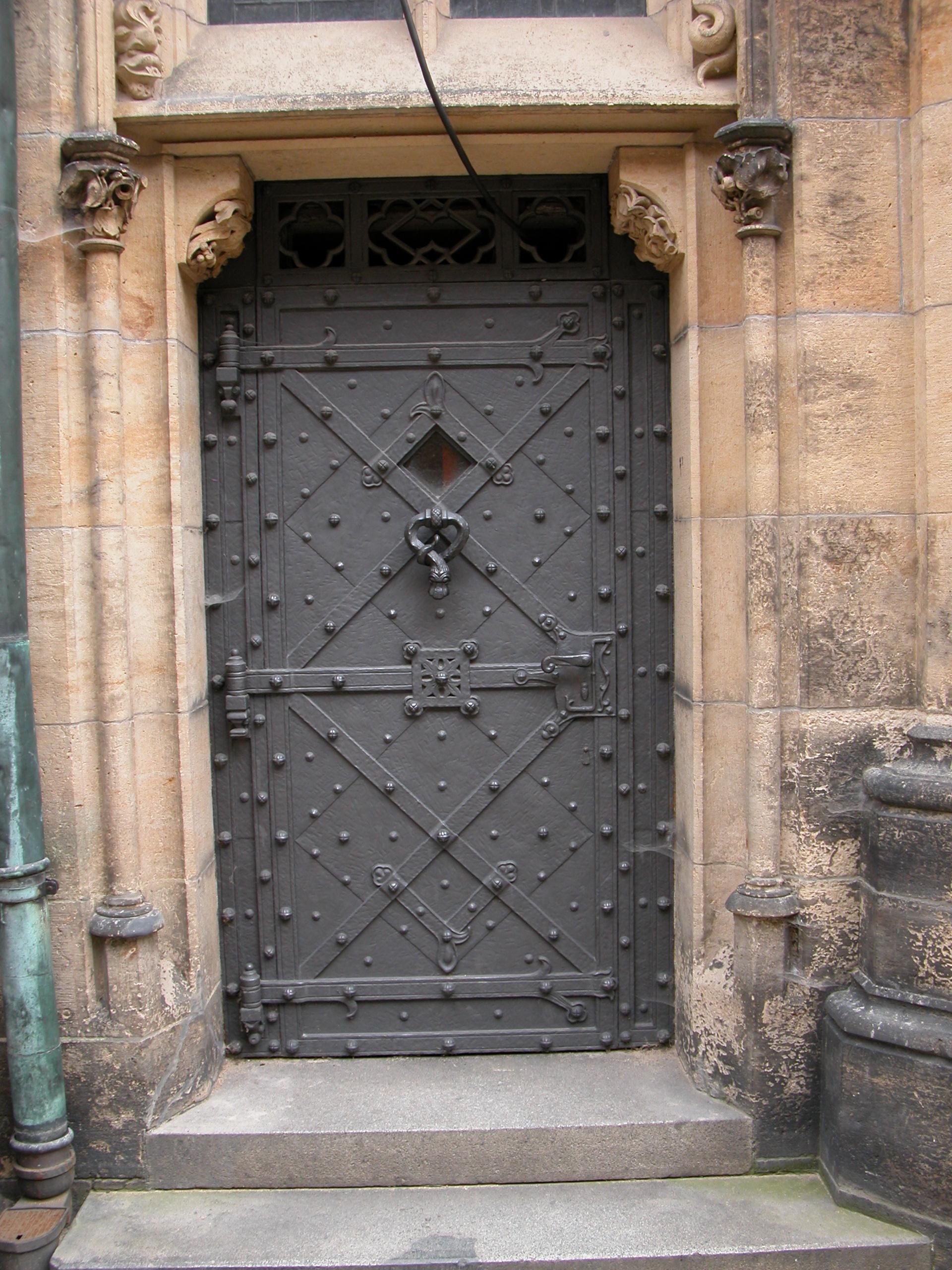 iron cast door steel