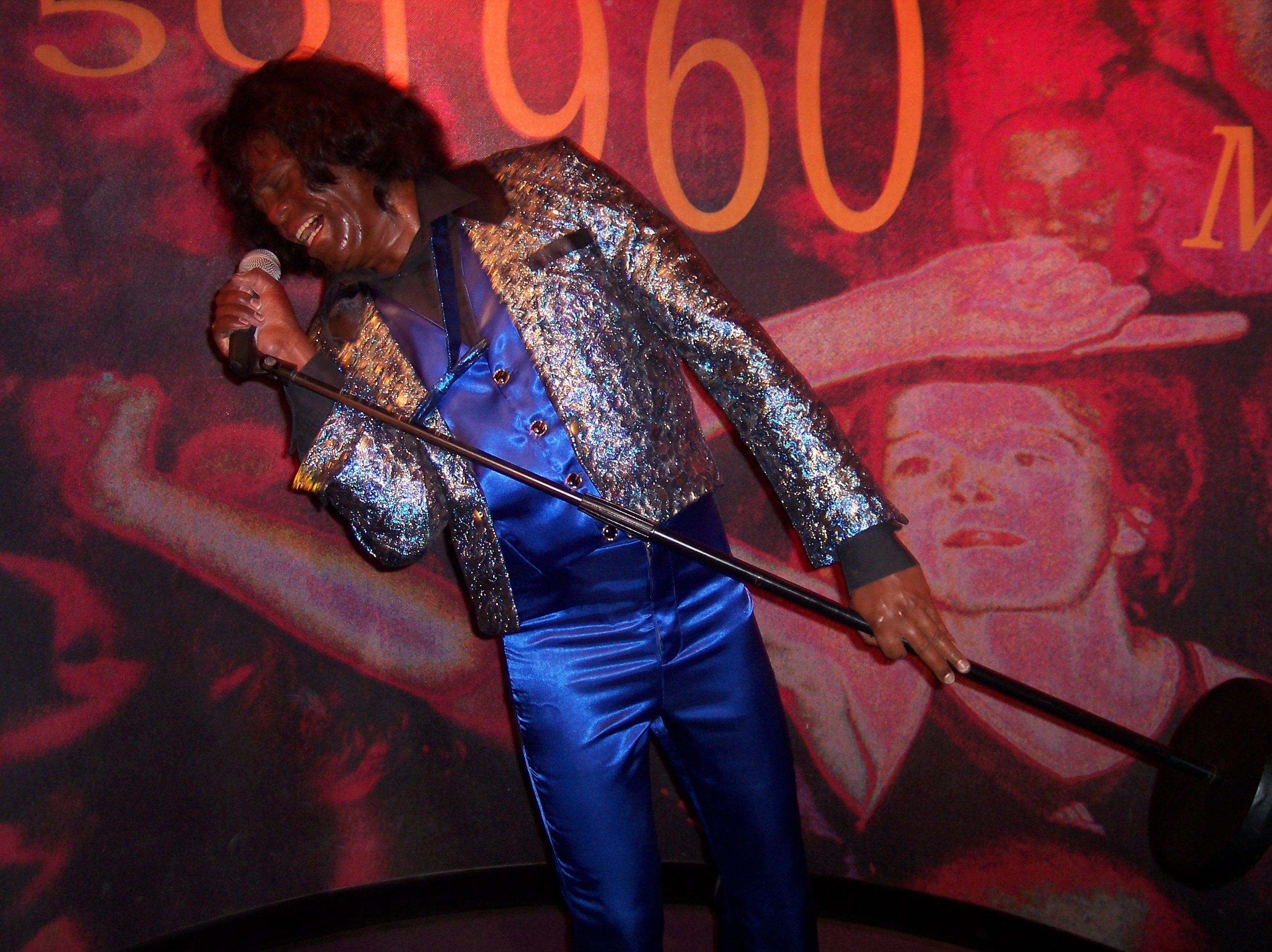 dario nature character humanoids man jamesbrown singer music artist performance waxmuseum puppet