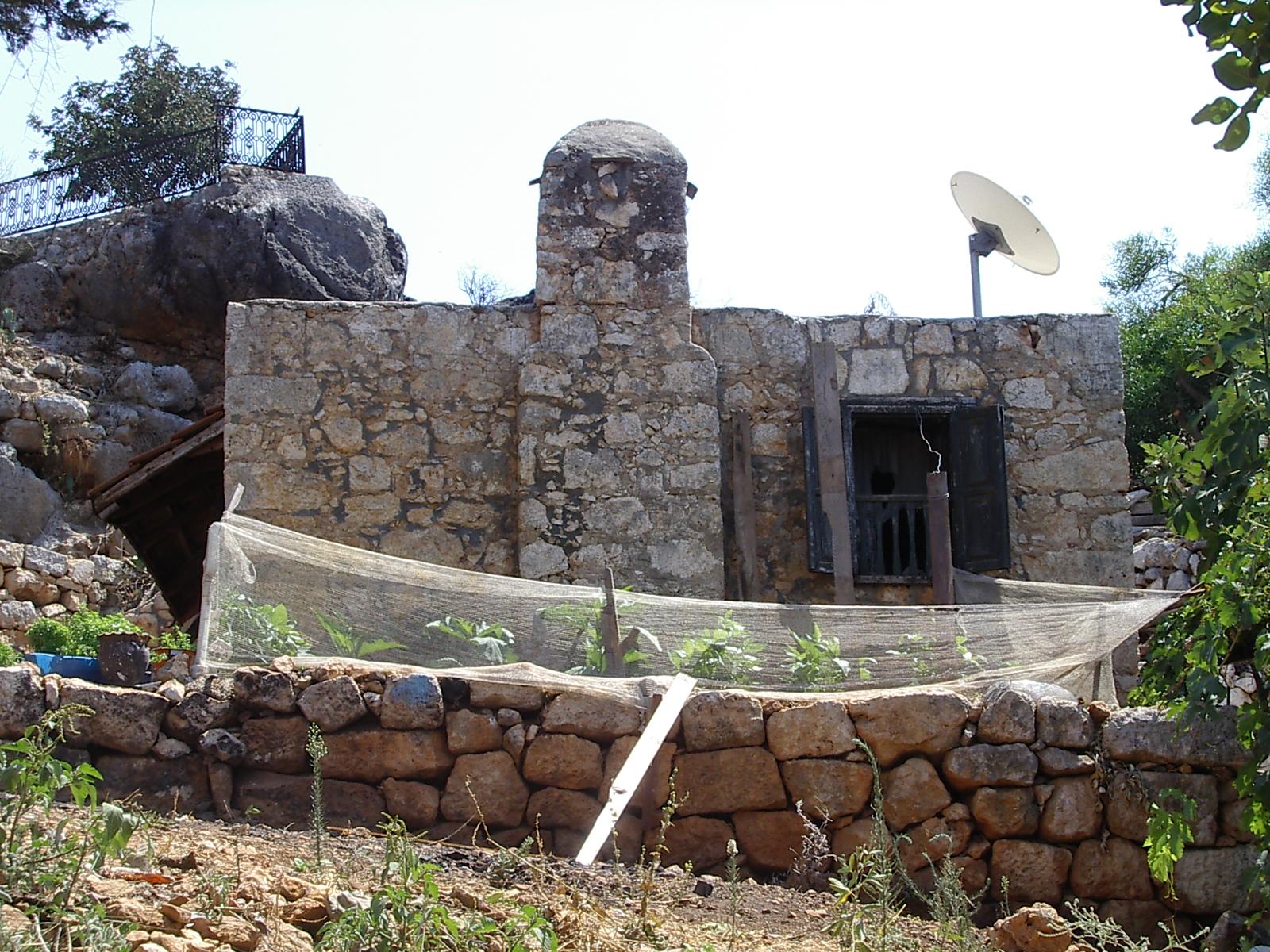 j_d house stone stones satellite dish