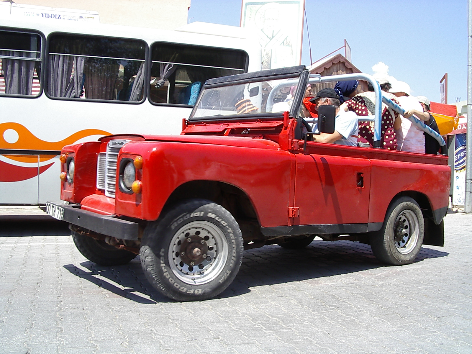 j_d red jeep truck car all terrain vehicle