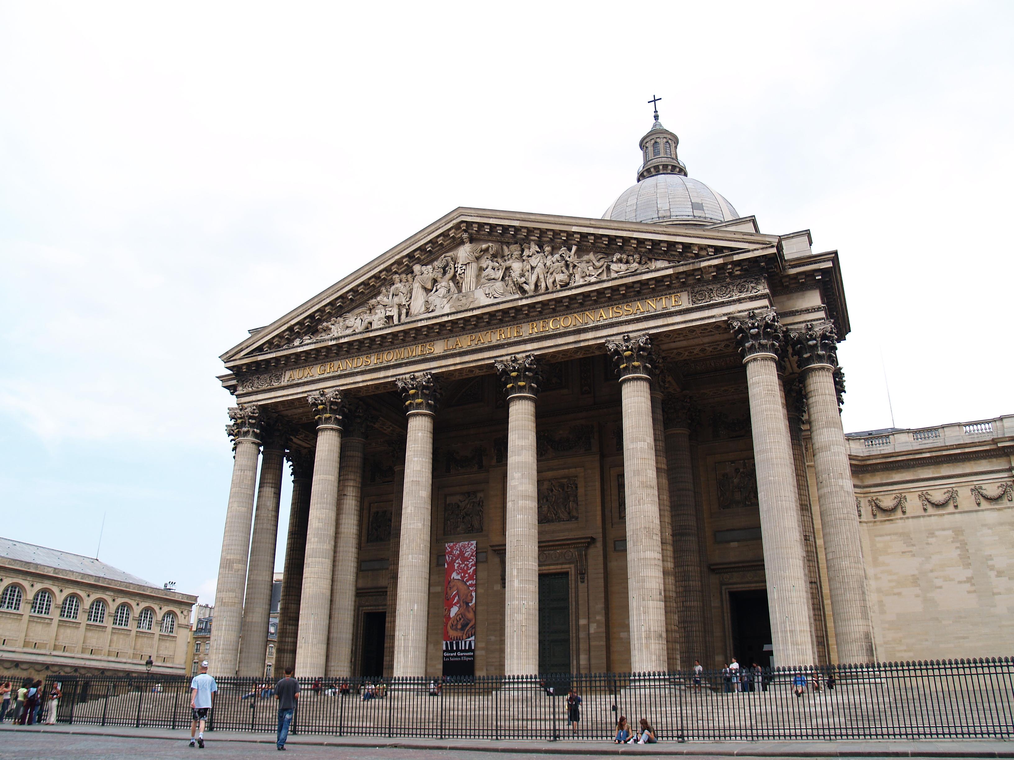 kai classic architecture pillars french stairs aux grands hommes la patrie reconnaissante