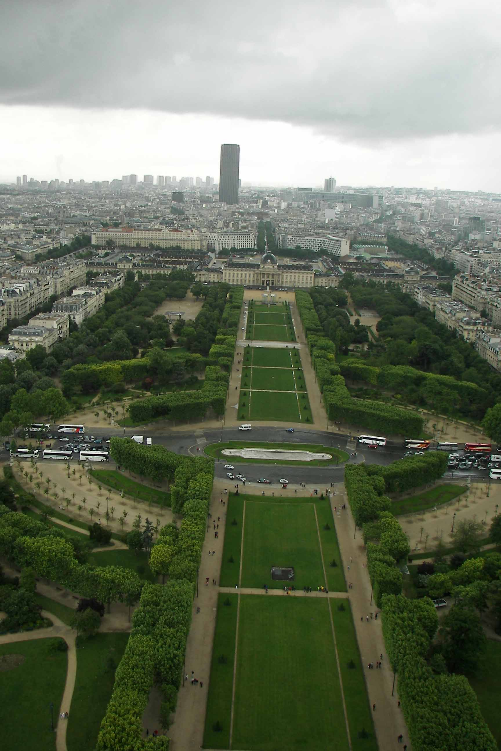 karinv view from the eiffeltower paris city cityview cityscape grass fields roads buildings offices coaches