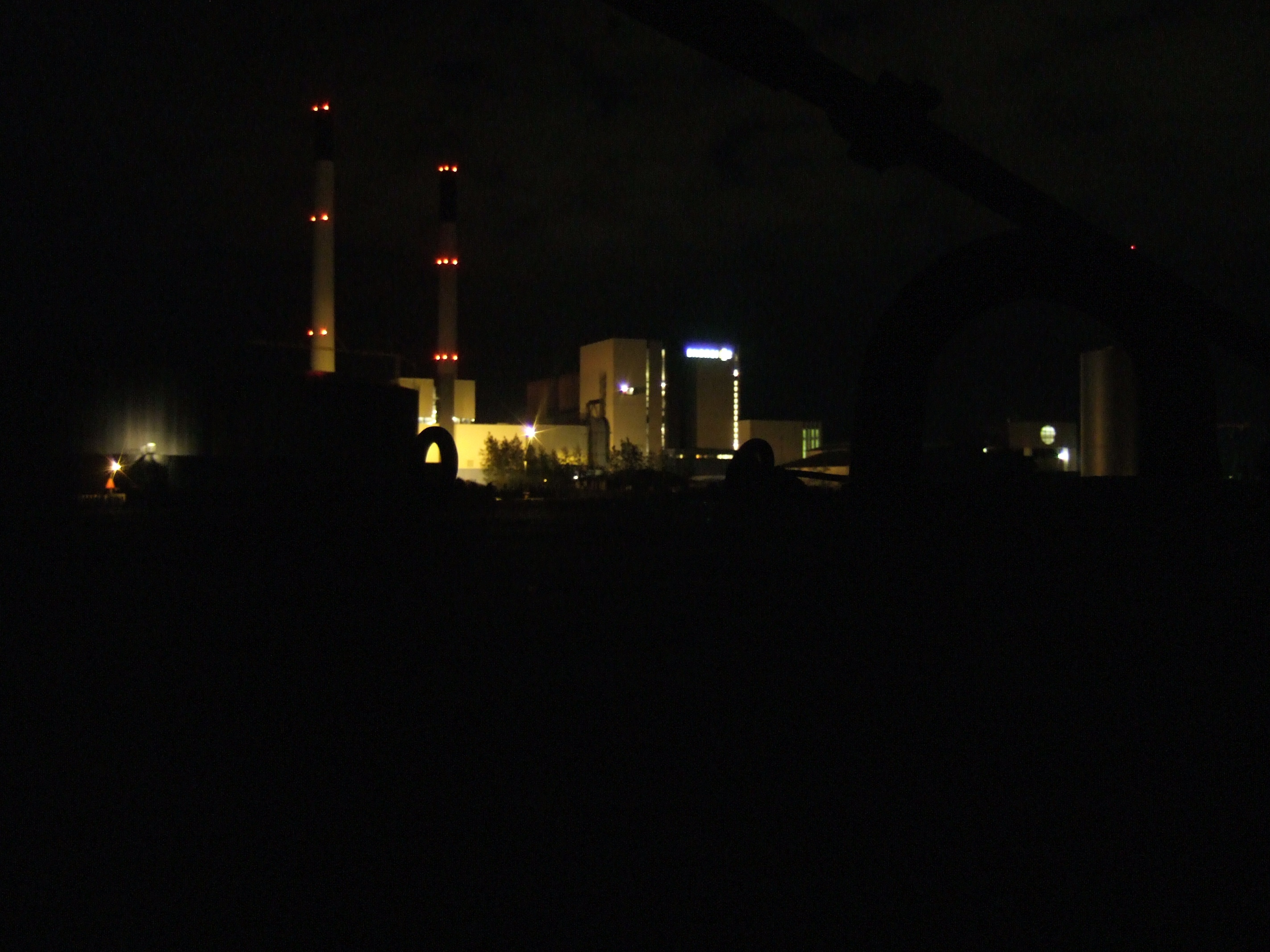 tabus industry at night power plant waste disposal