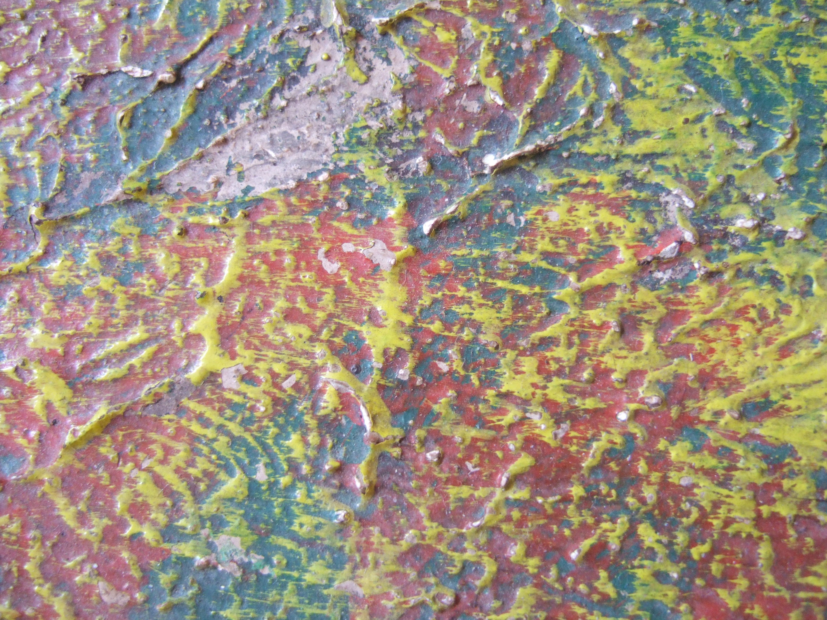 tabus painting close up relief thick paint