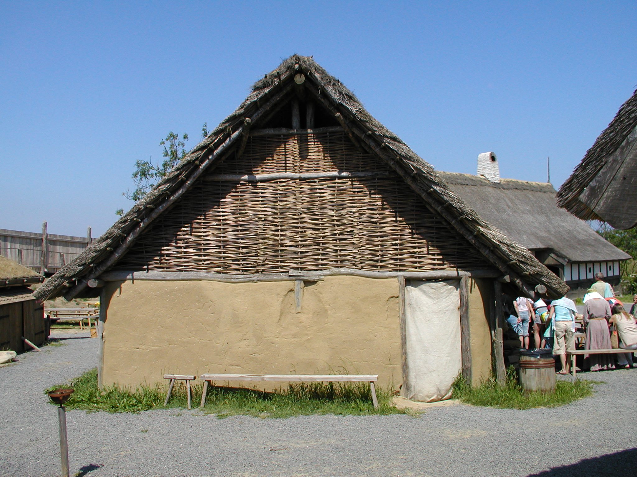 tabus natural house clay reet thatched roof