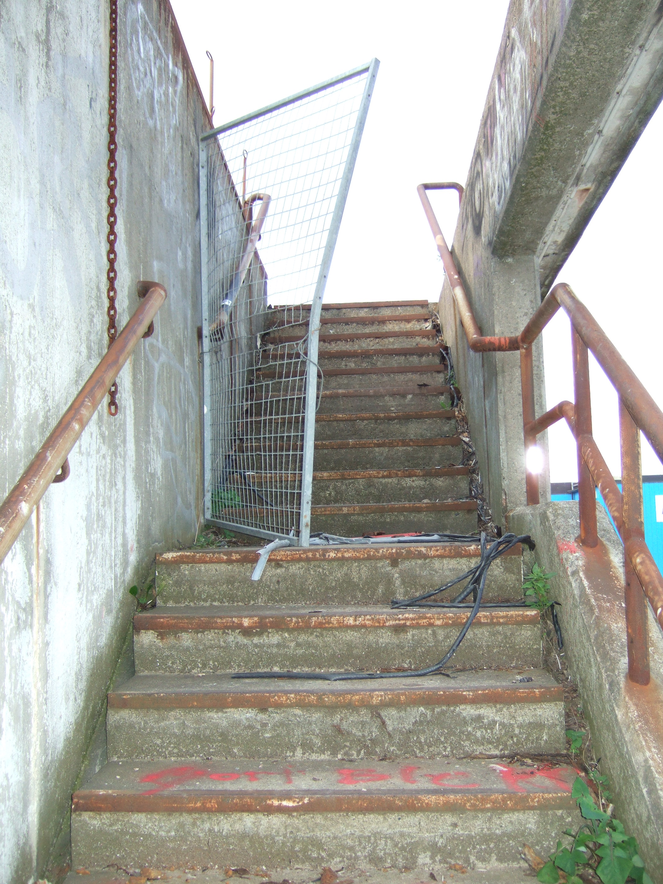 tabus abandoned stair way steps fence