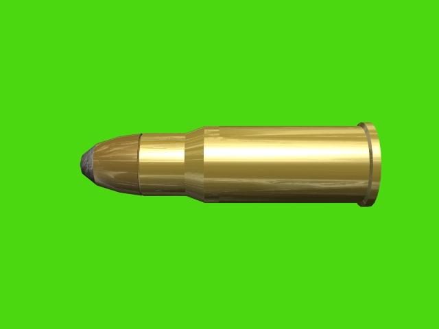 tabus bullet gold golden slug 3d three 3 dimensions rendering