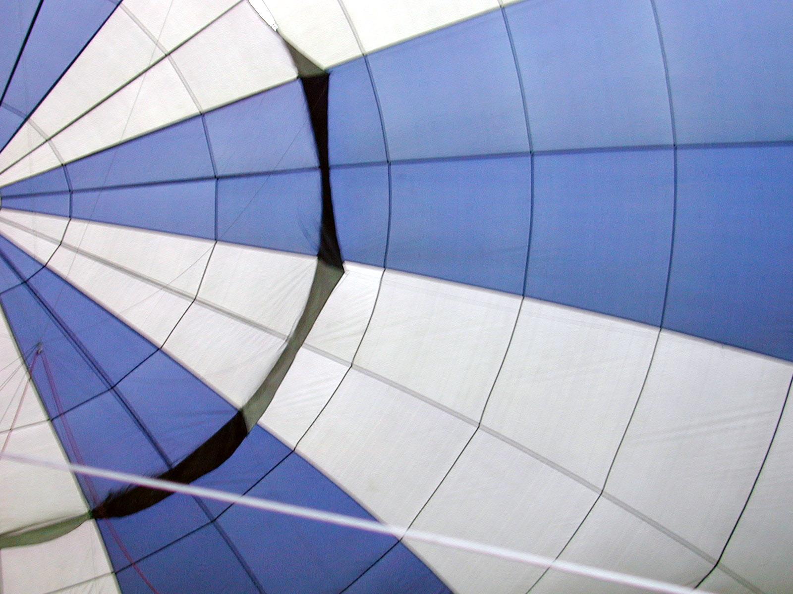 texture vehicles air hotairballoon balloon ballooning cloth textures silk polyester string strings web blue white trapezium inside