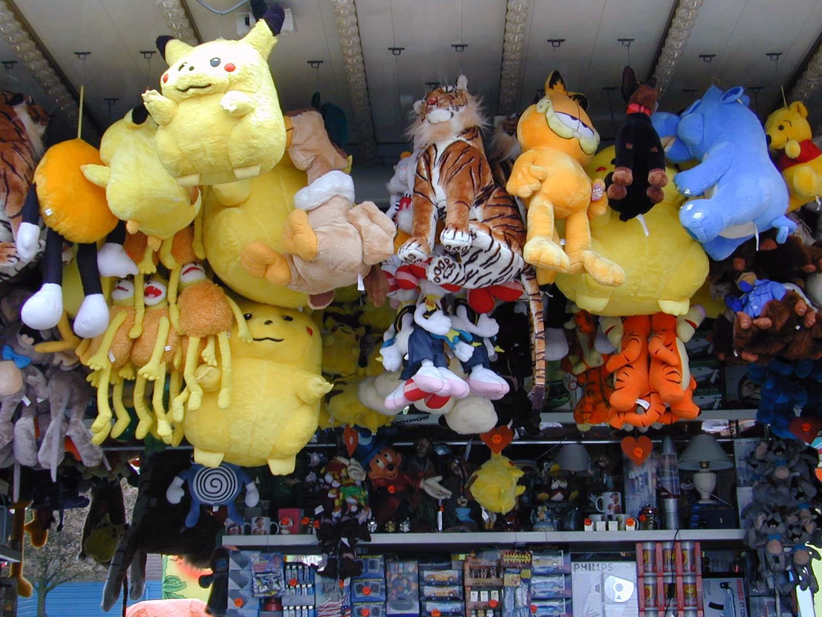 pluche fluffy funfair toys teddybear picachu garfield animals prize prizes tiger
