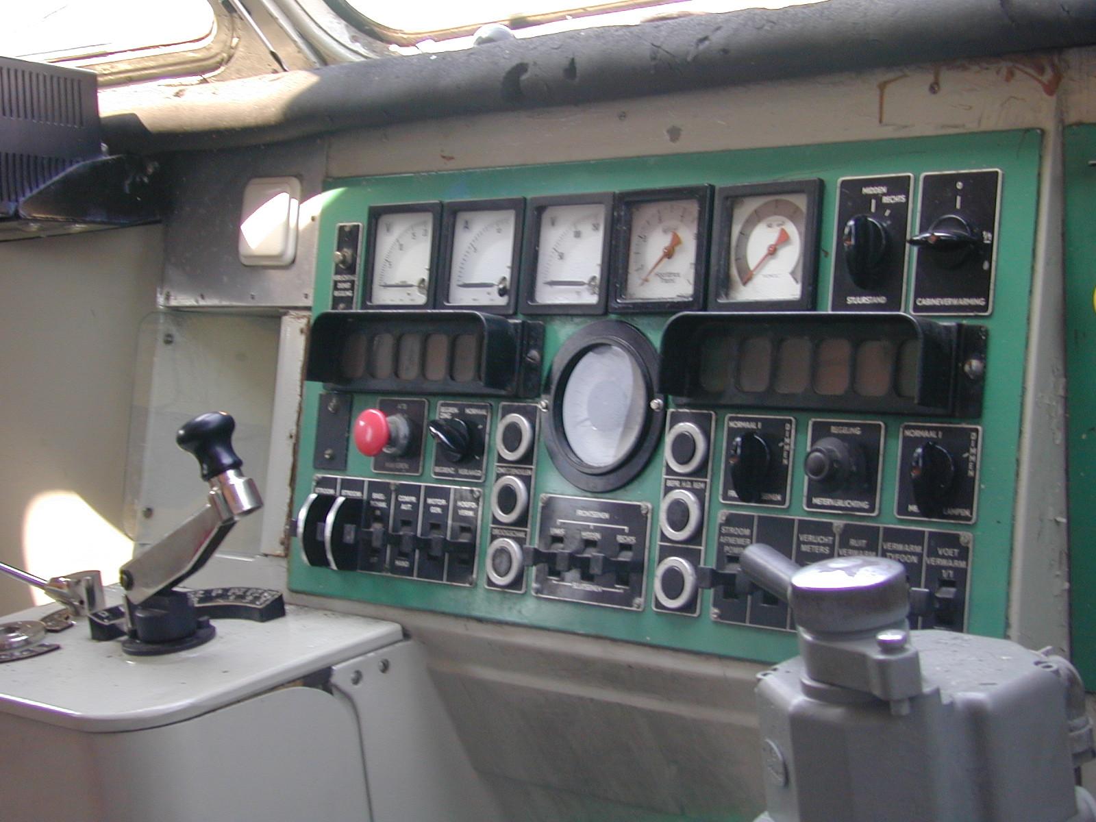 train cockpit panel controls meters dashboard dials