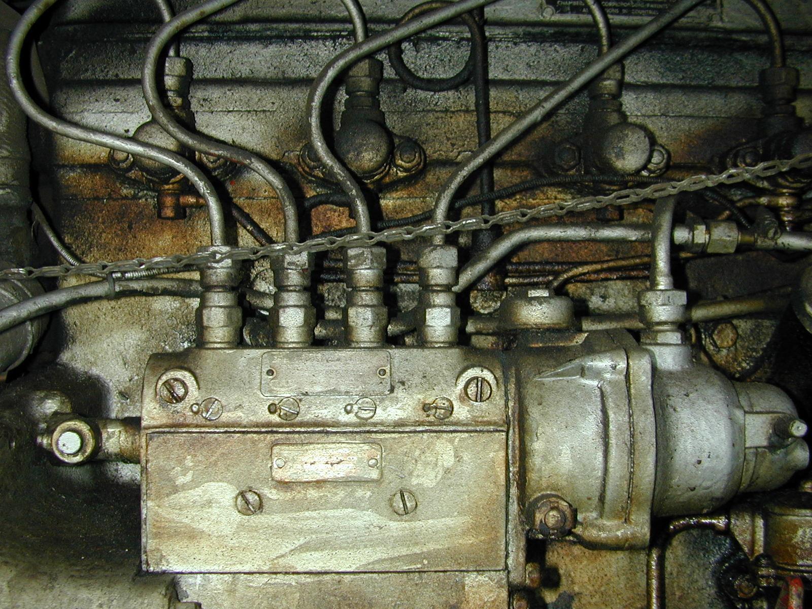 engine steel metal wires car