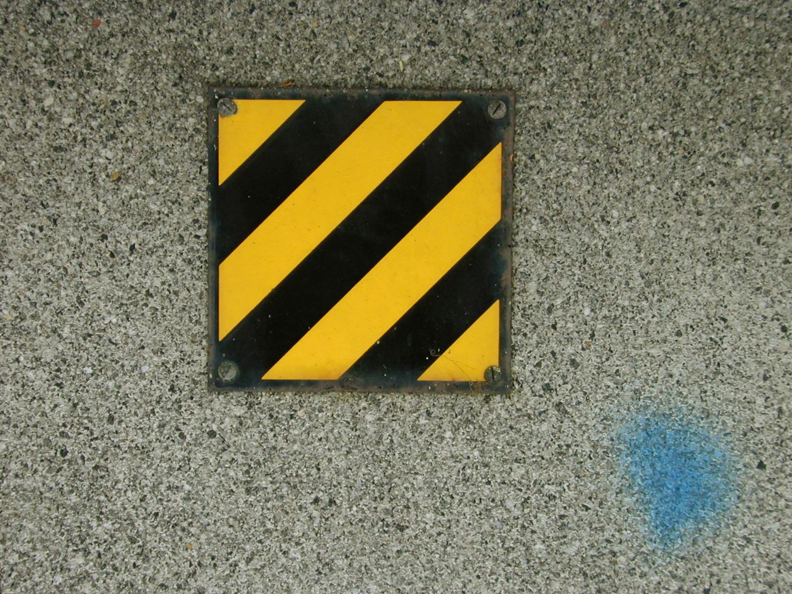 crest emblem sign warning metal hatch stripes iron steel