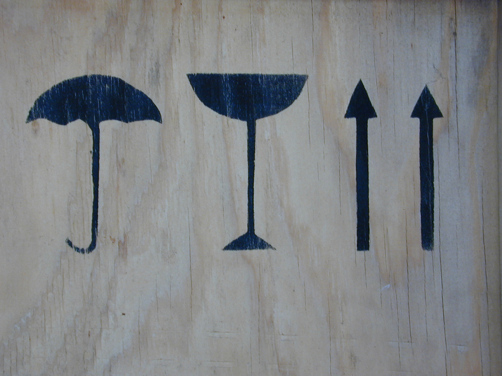sign signs umbrella glass arrows scipt fragile this way up keep dry paint print wood