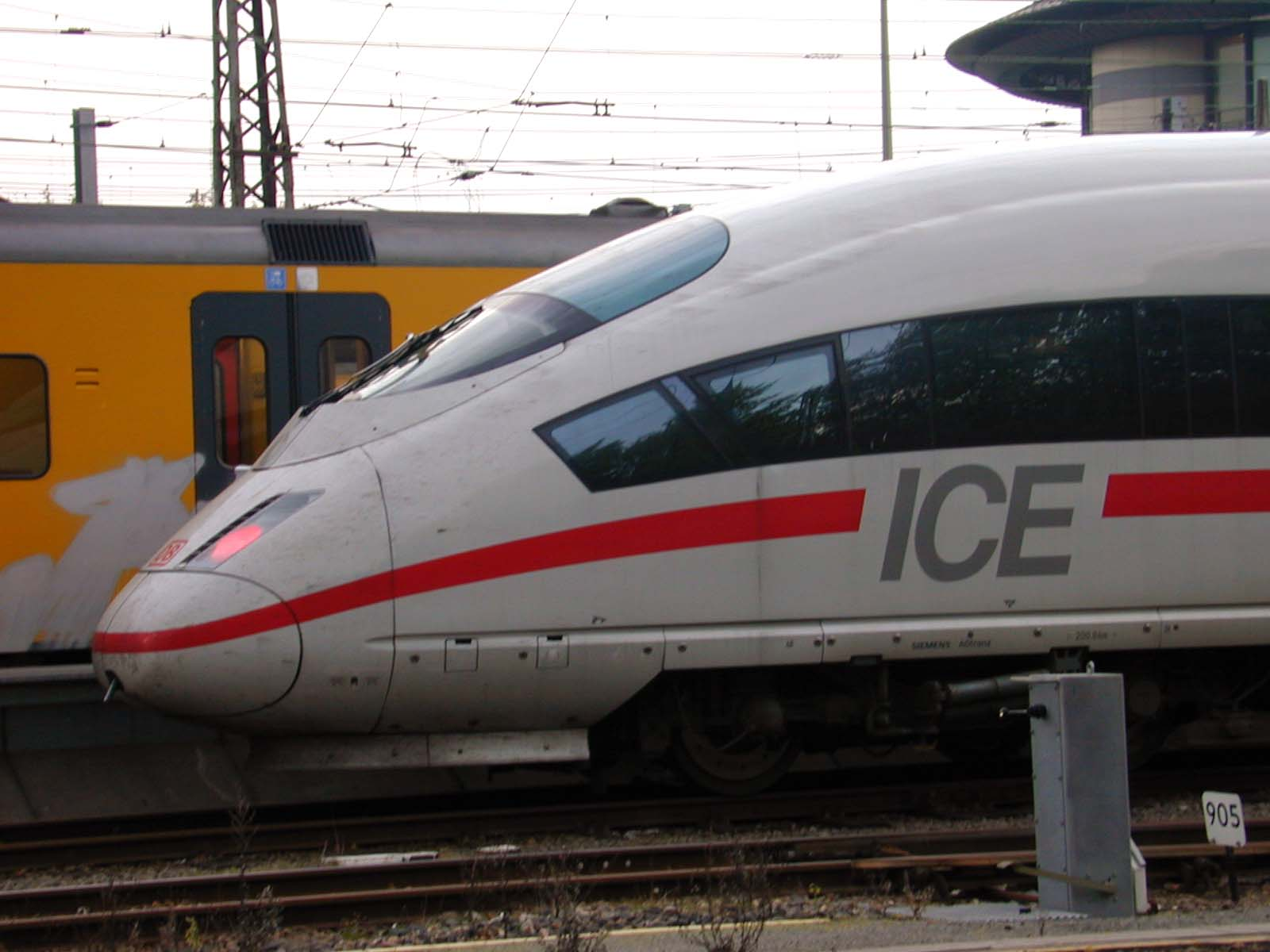 ice train railway white speed train high