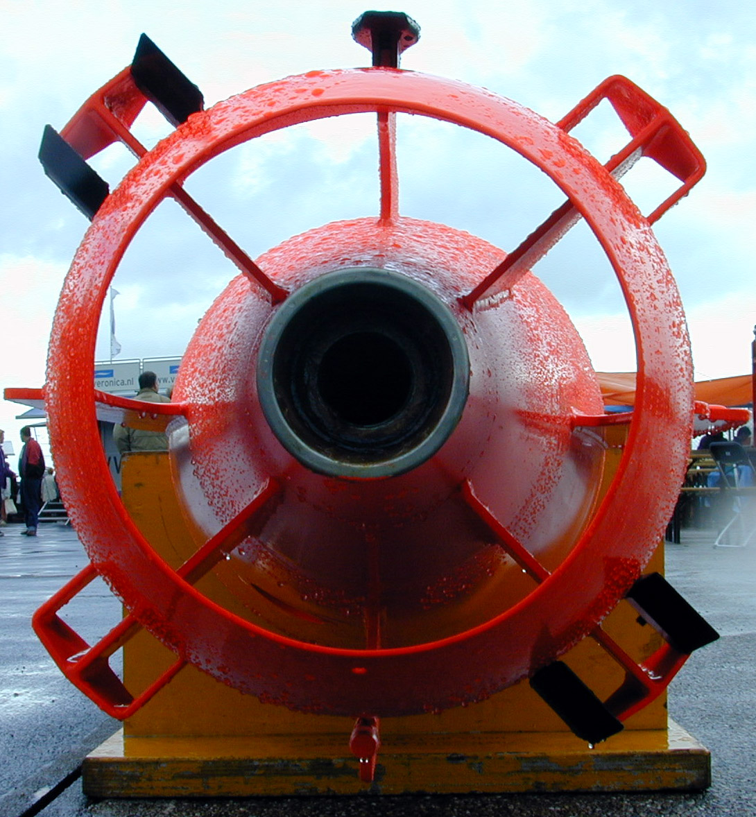 submarine engine back red metal thingy