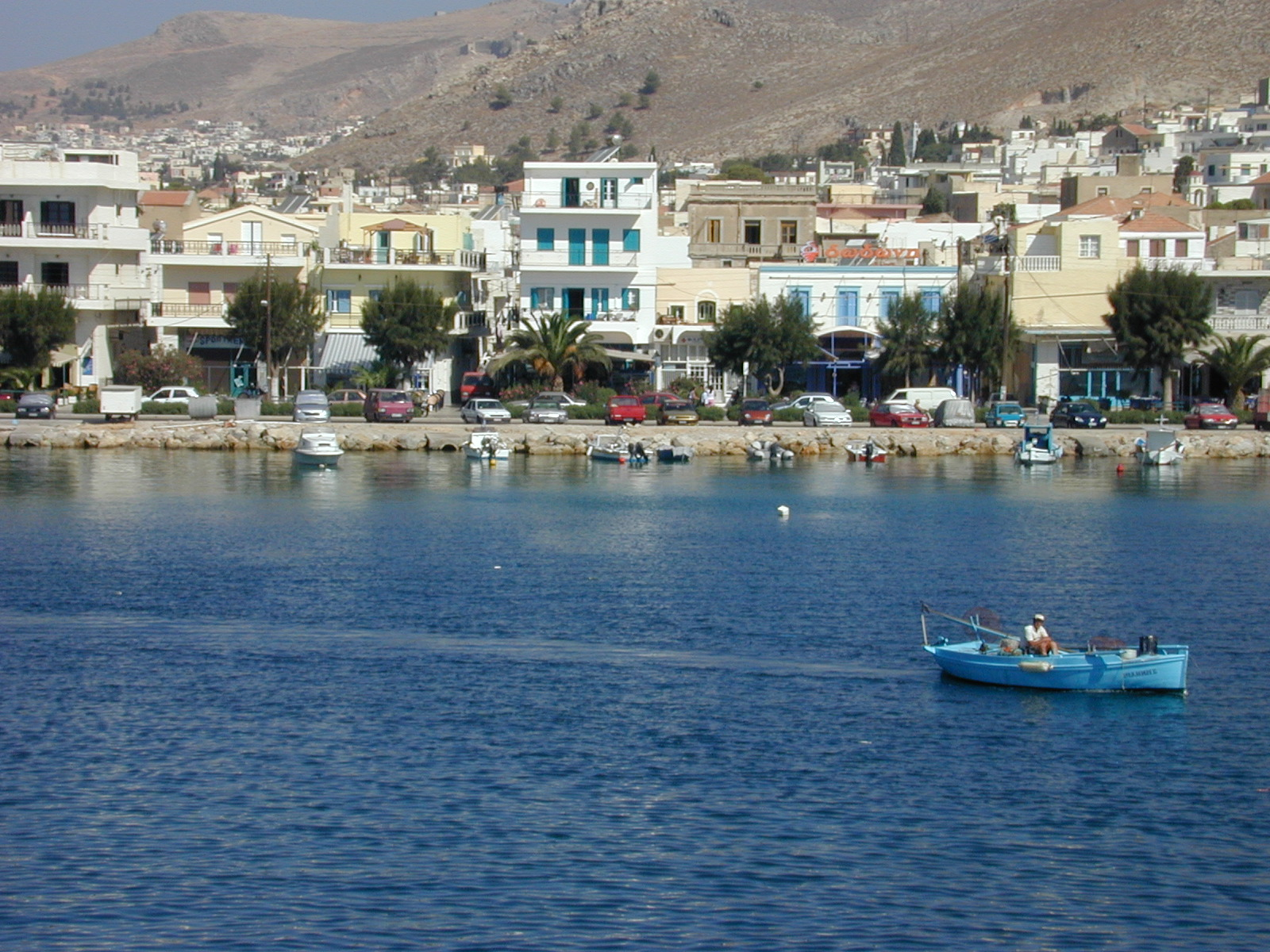 nature landscapes bay house houses greece boats cars mountains water mediterenean fisherman fisherboat