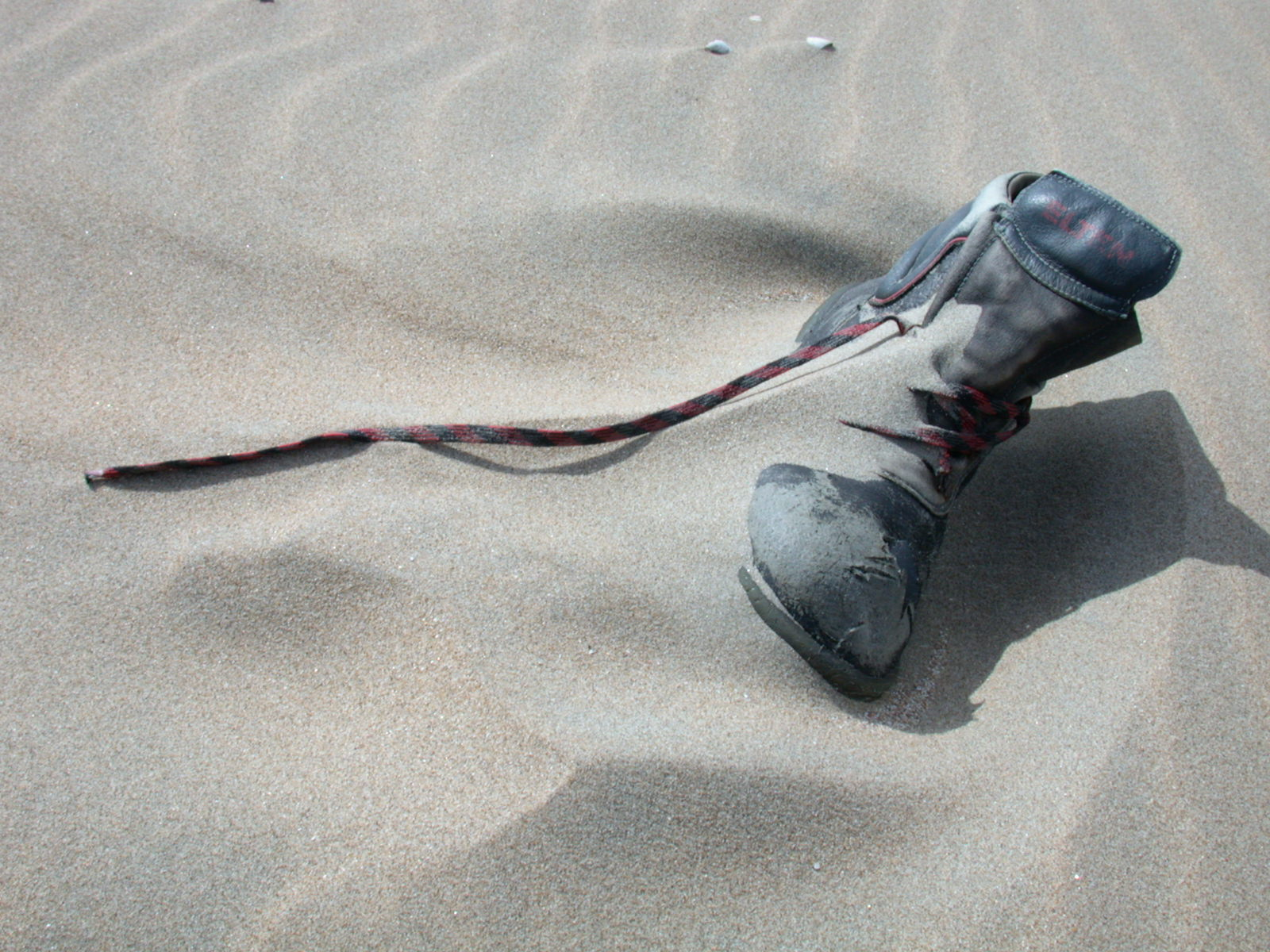 shoe sand beach covered boot shoelace shoelaces leather