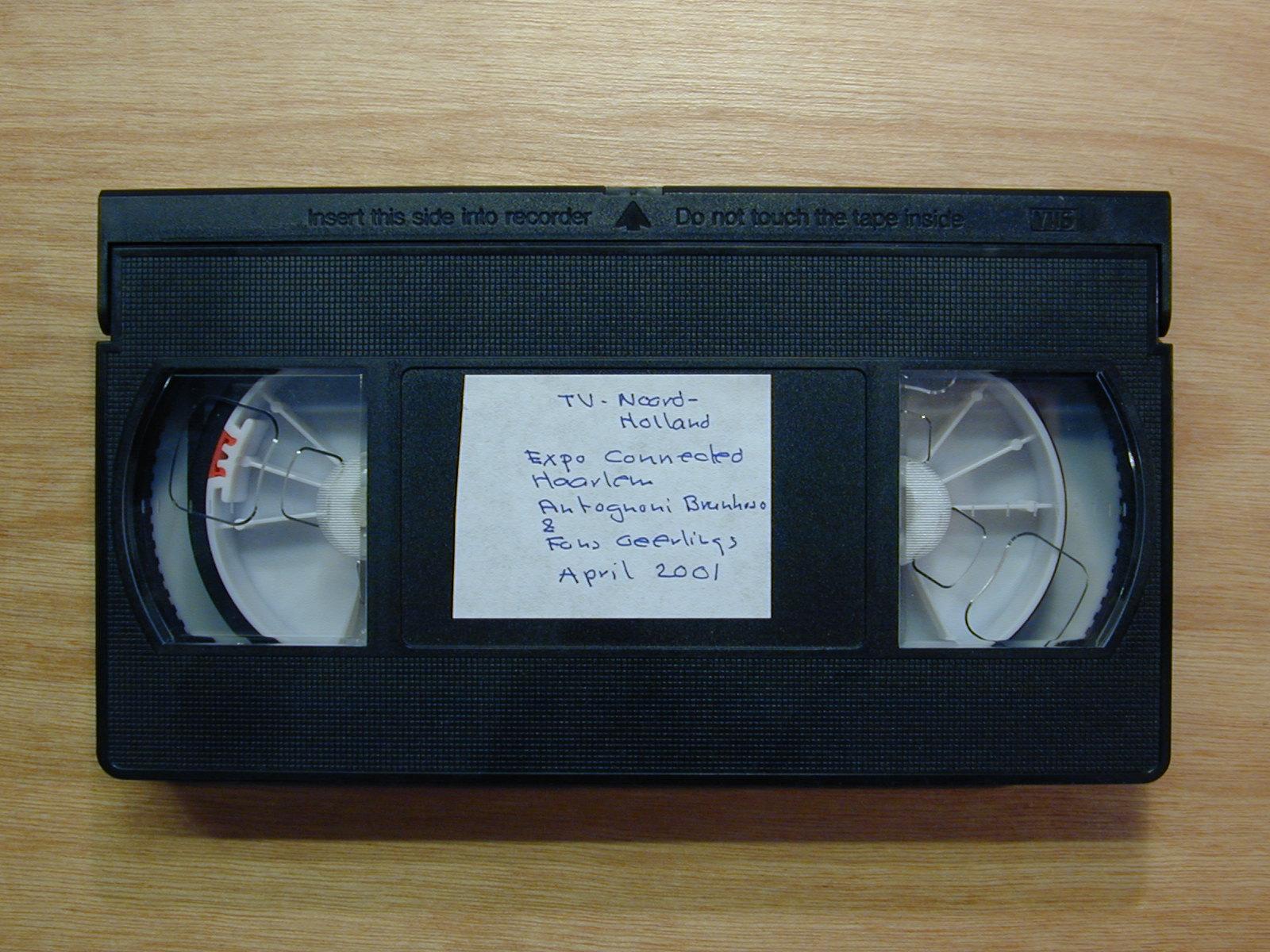 videotape medium tape video black cassette