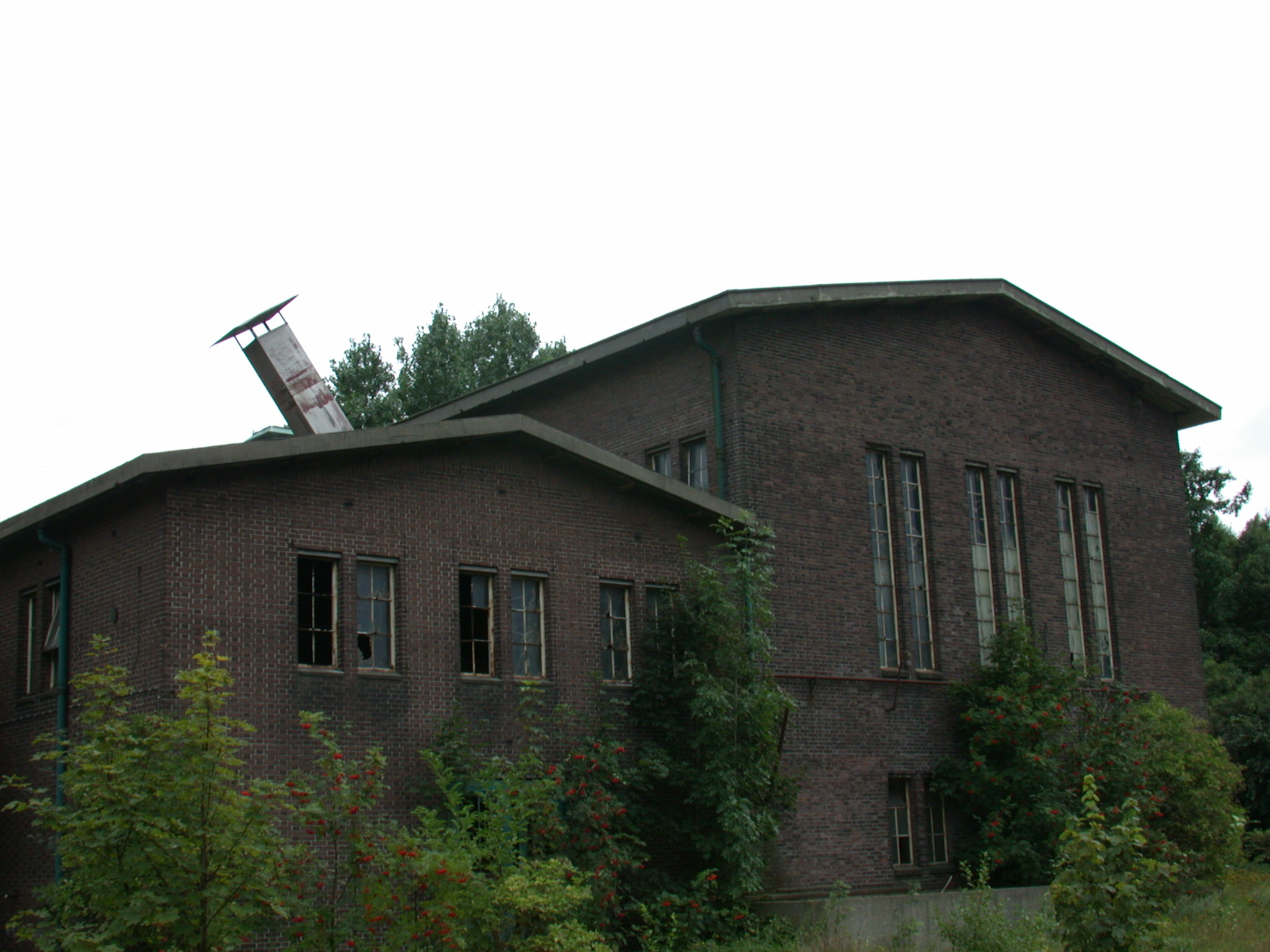 architecture exteriors abandoned factory warehouse chimney building